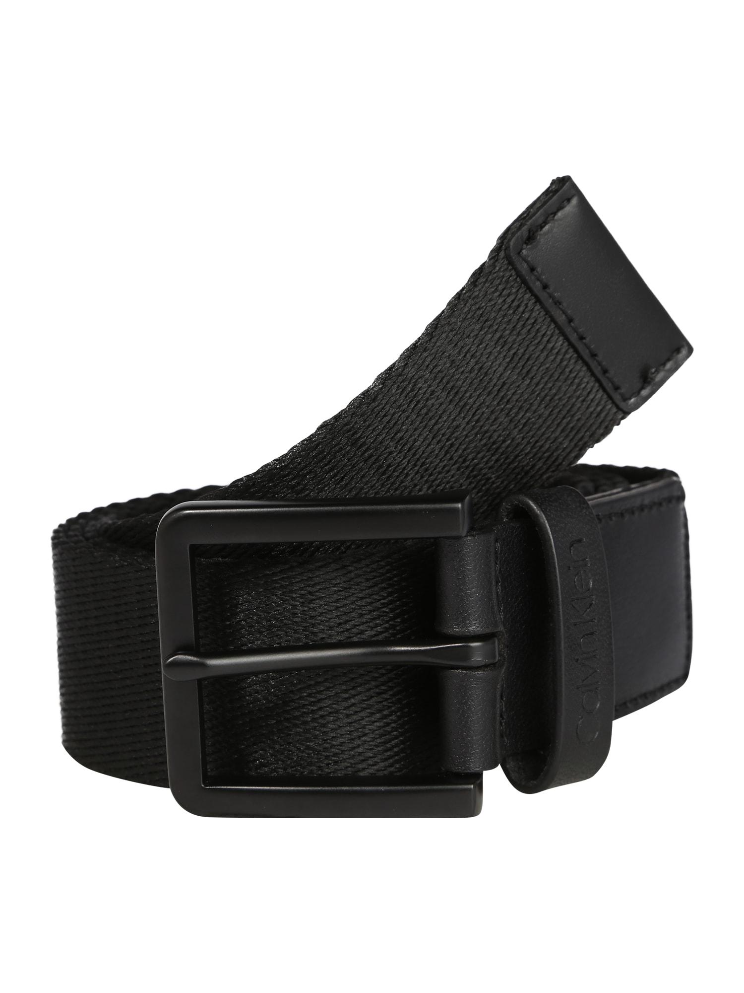 Calvin Klein Diržas '35MM ESSENTIAL PLUS WEBBING' juoda