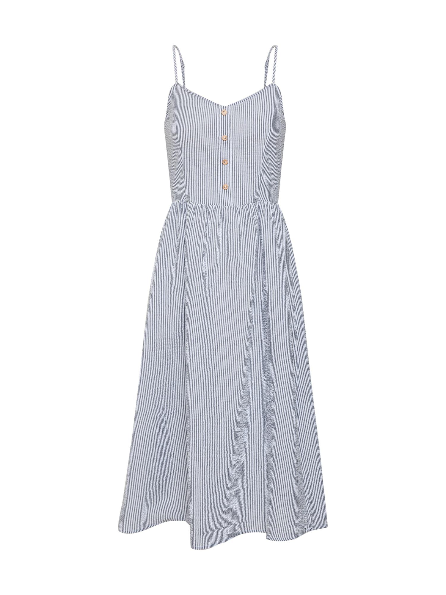 Letní šaty KARIM dunkelblau weiß JACQUELINE De YONG