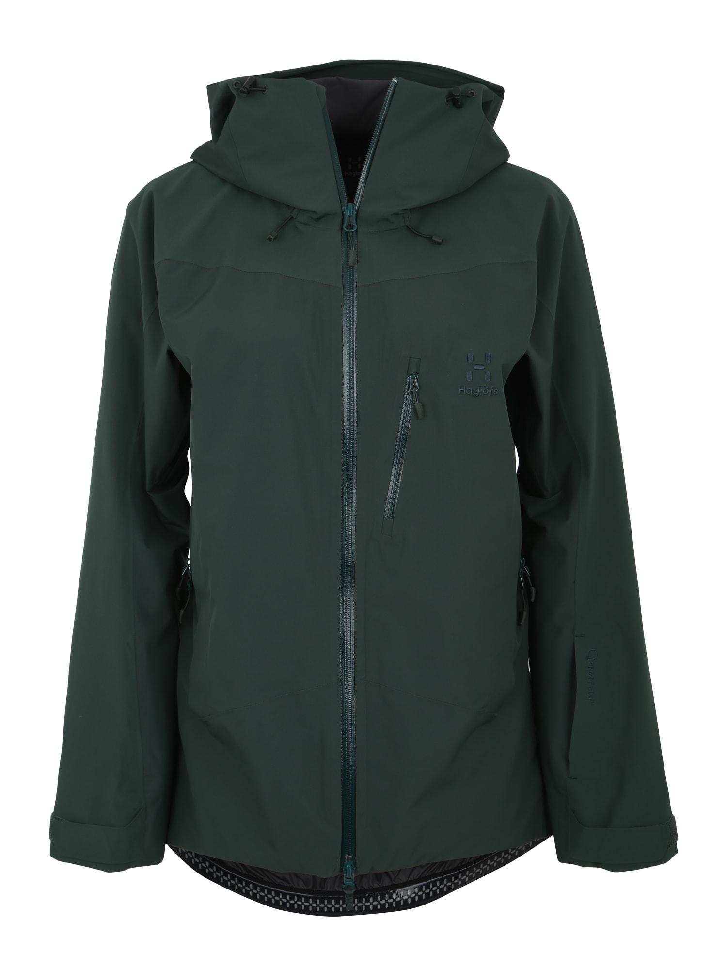 Outdoorová bunda Niva tmavě zelená Haglöfs