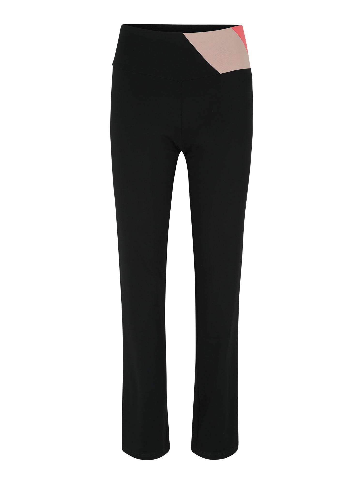Sportovní kalhoty Edry SL korálová černá ESPRIT SPORTS