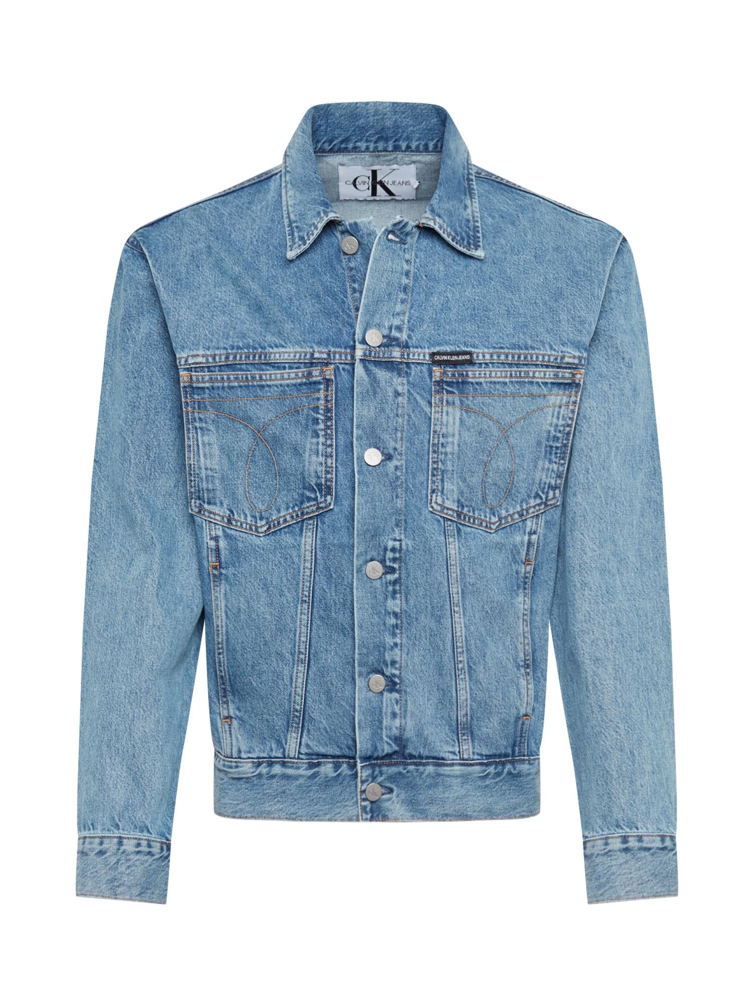 Calvin Klein Jeans Přechodná bunda  modrá džínovina
