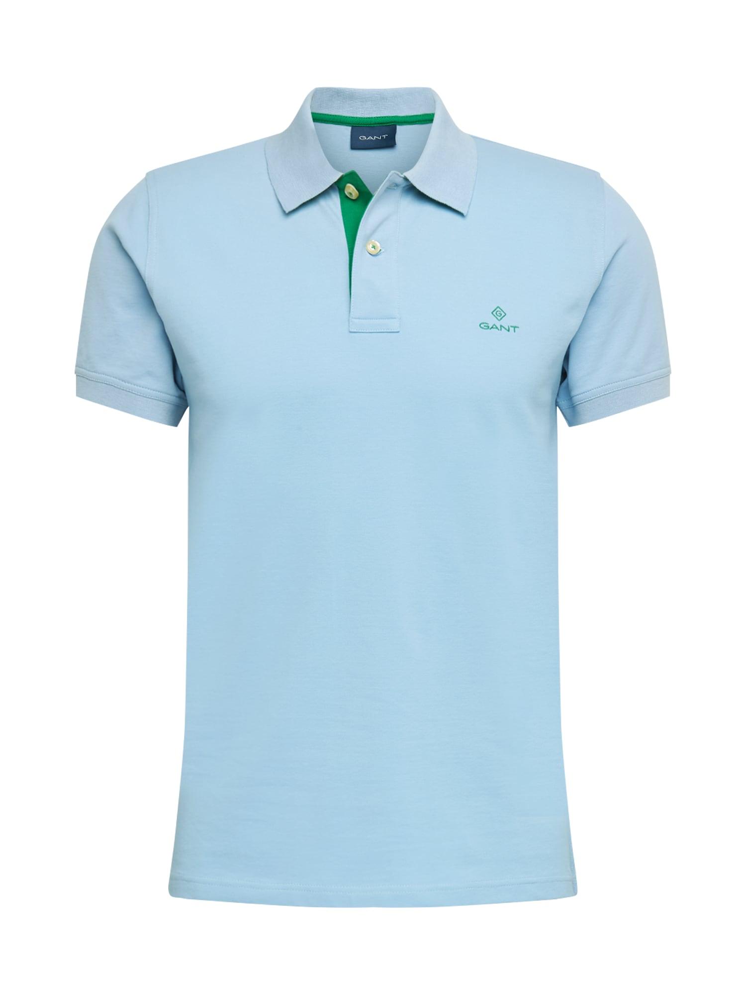 GANT Tričko 'RUGGER'  svetlomodrá / zelená