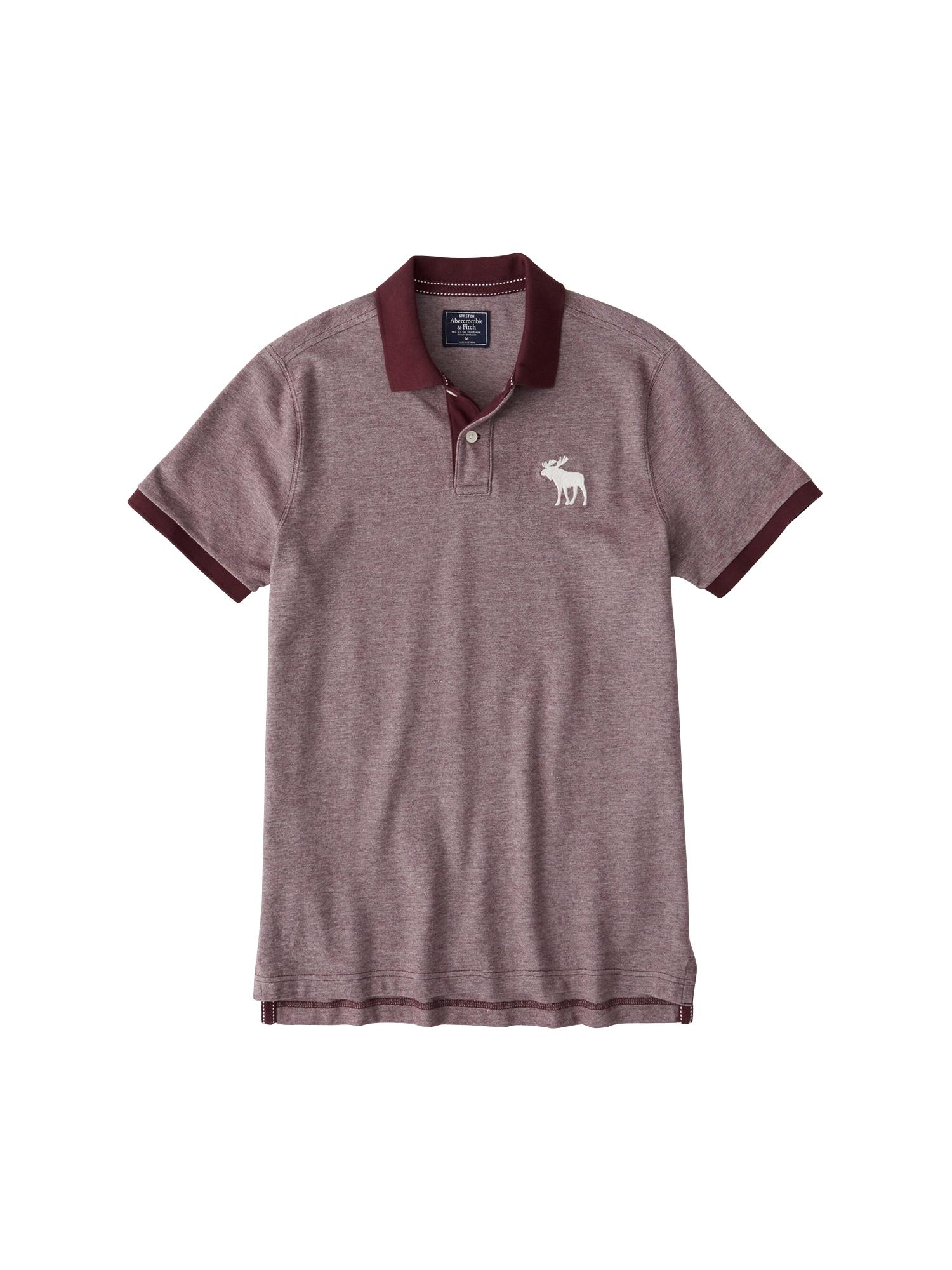 Abercrombie & Fitch Marškinėliai ' BTS19-SS EXPLODED' burgundiško vyno spalva