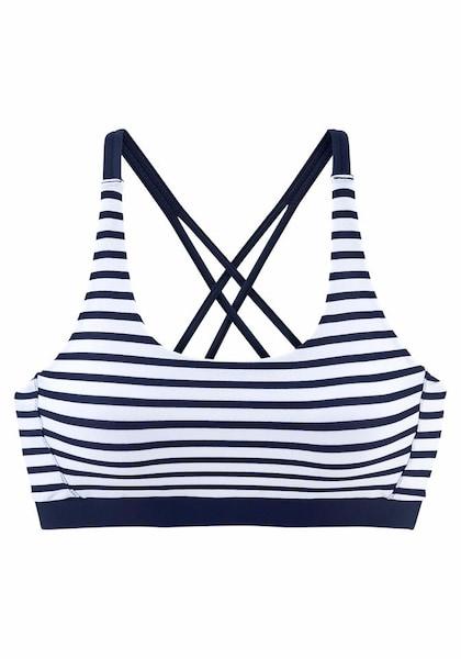 Bademode - Bustier Top 'Summer' › VENICE BEACH › navy weiß  - Onlineshop ABOUT YOU