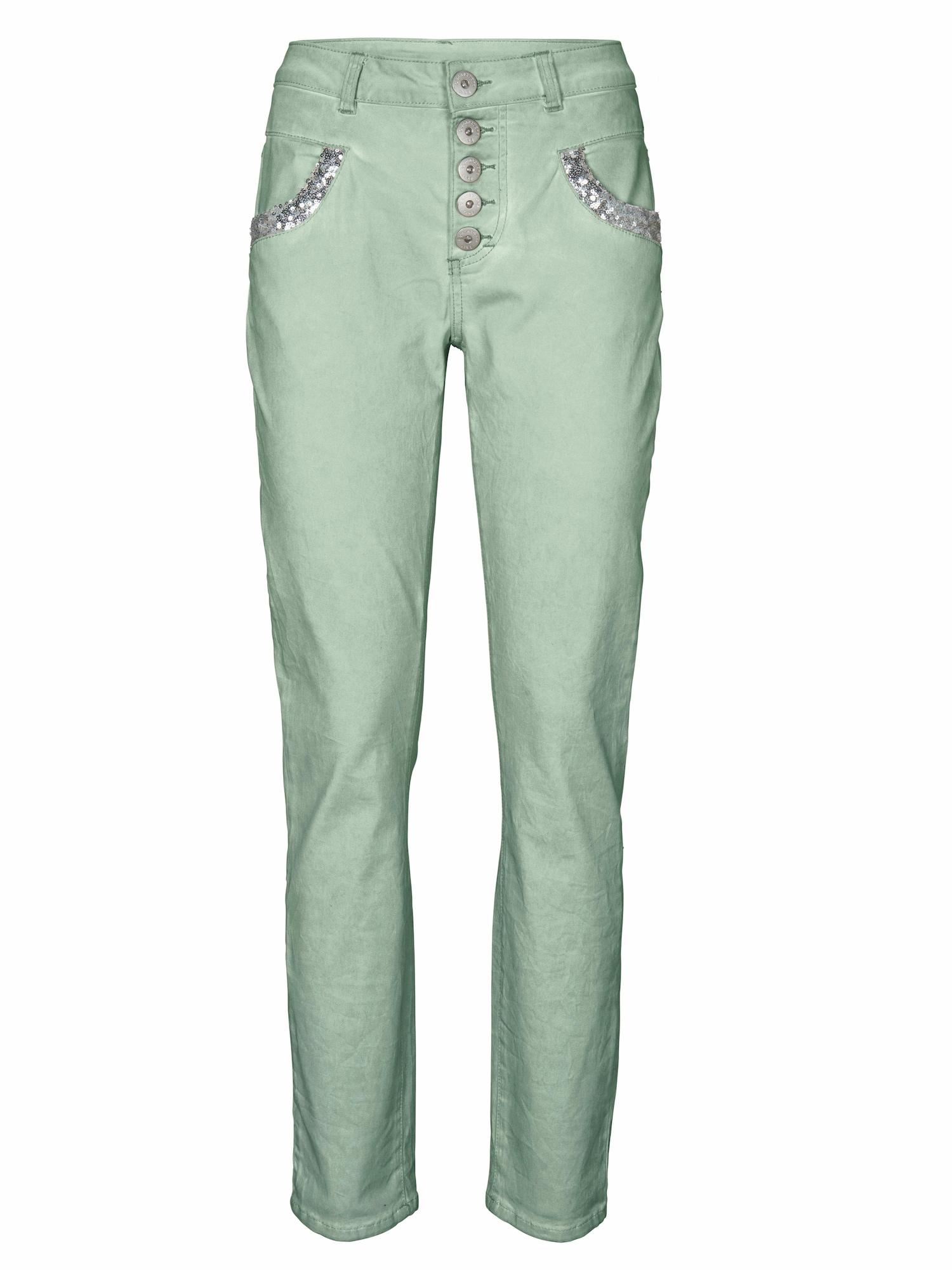 Kalhoty nefritová Heine