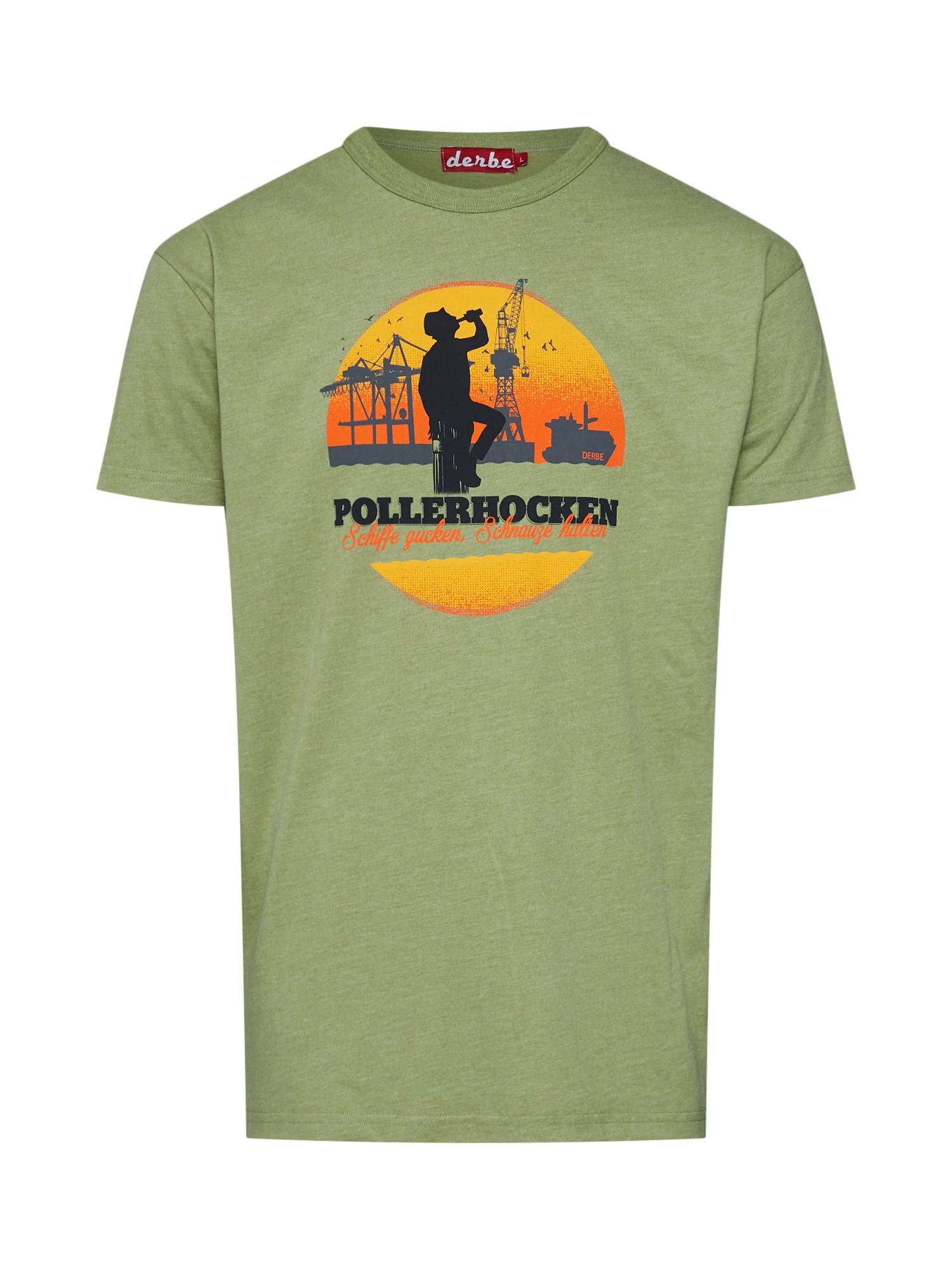 Tričko Pollerhocken zelený melír Derbe