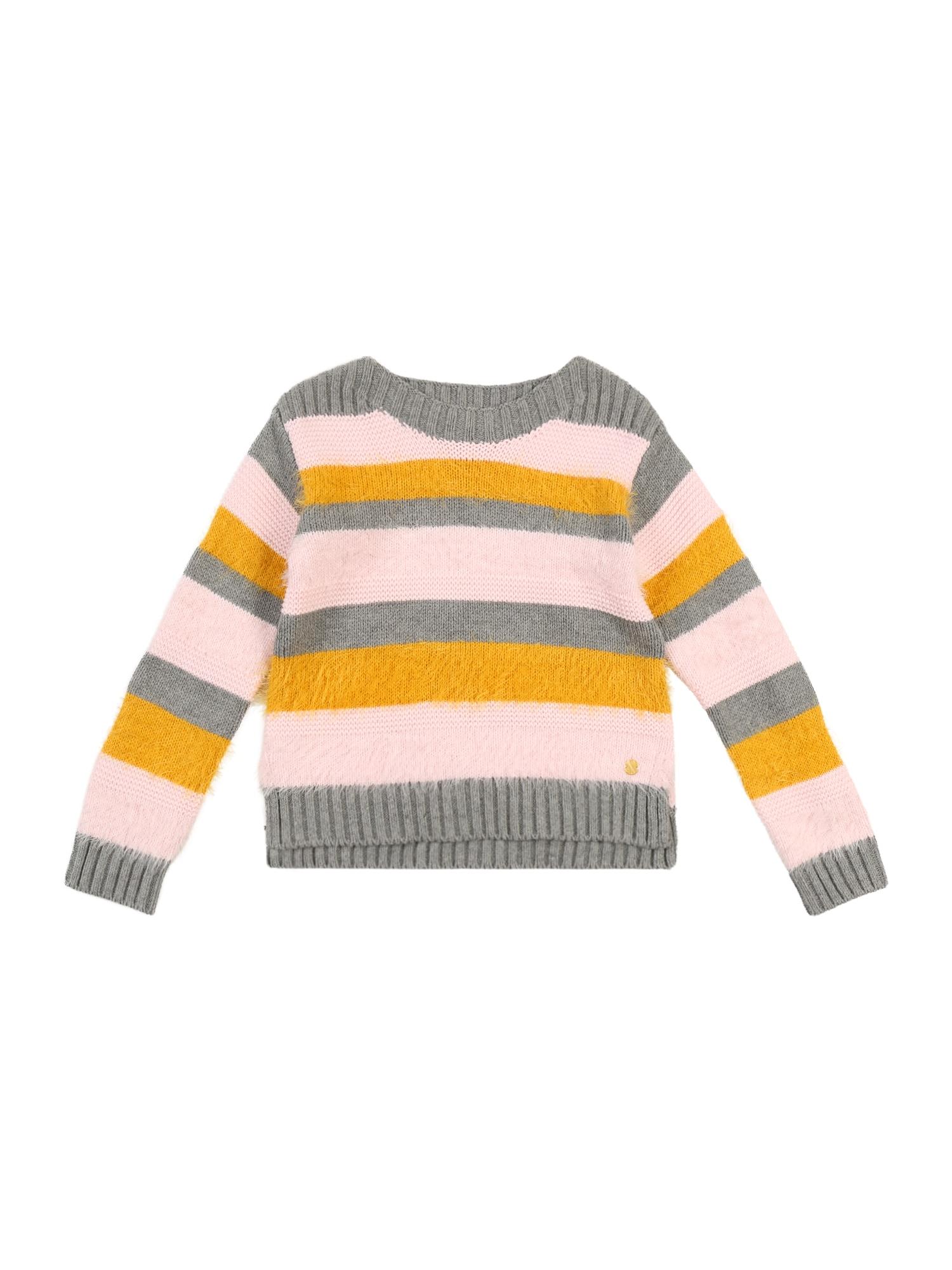 ESPRIT Megztinis 'PULLI' geltona / pilka / rožių spalva