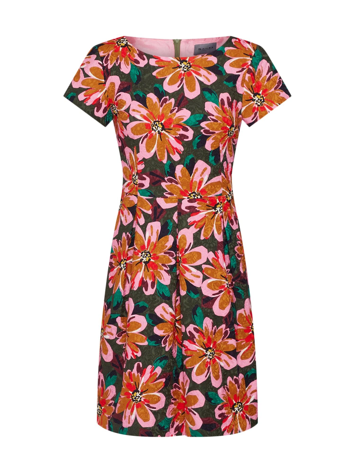 Letní šaty Norma zelená pink SAND COPENHAGEN
