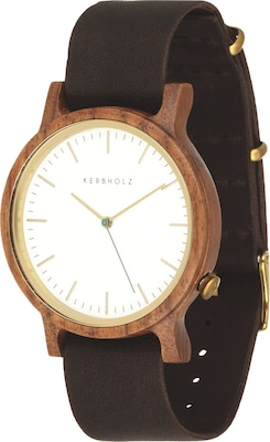 Kerbholz Uhr Walter Walnut/Tanned Brown