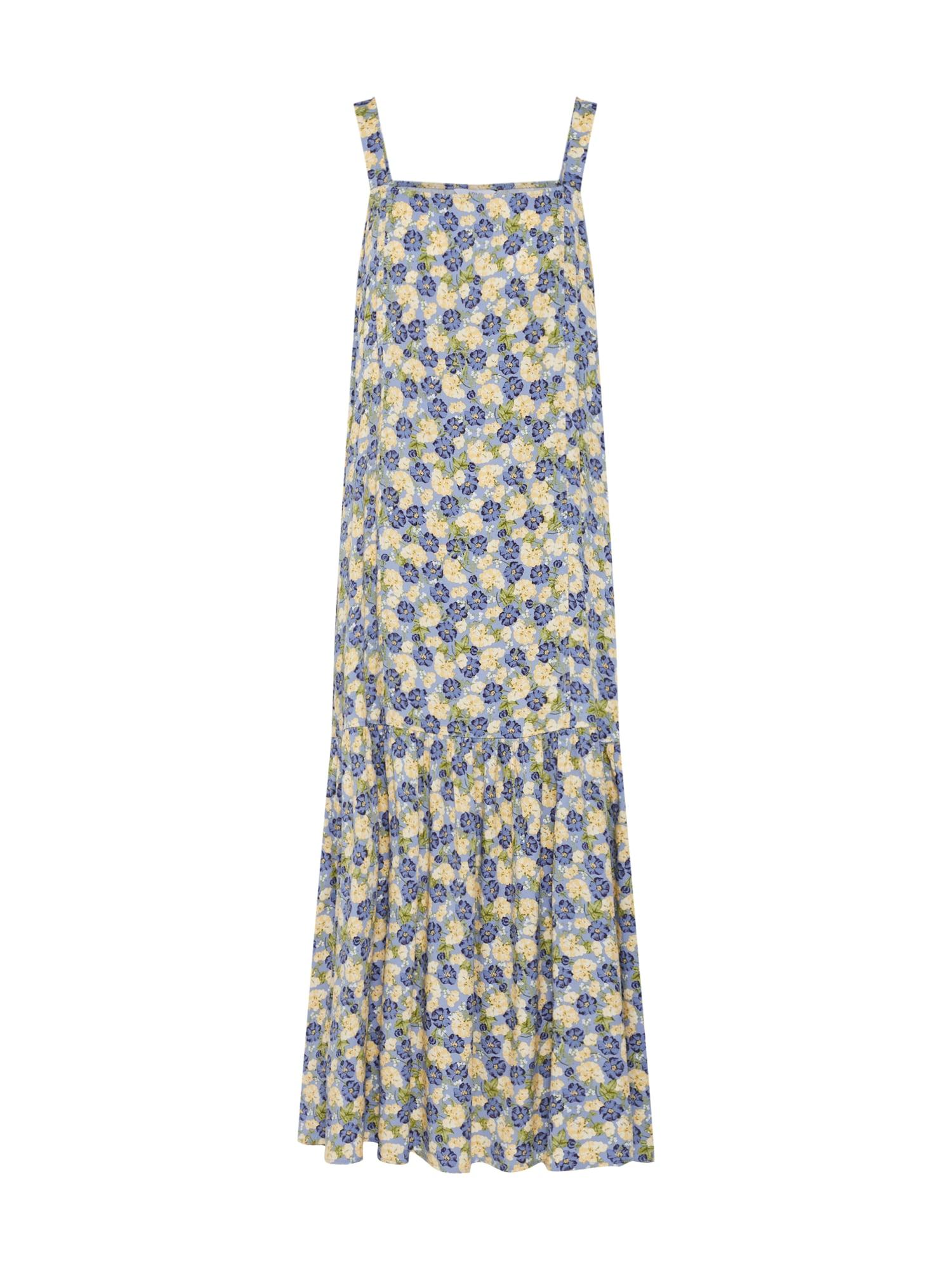 Letní šaty CHARITON světlemodrá pastelově žlutá zelená Envii