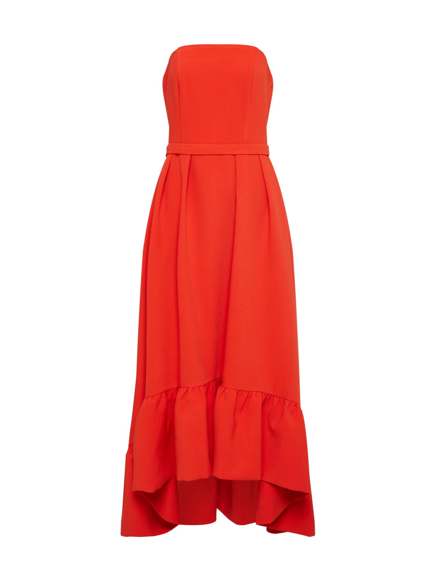 Společenské šaty oranžově červená Four Flavor