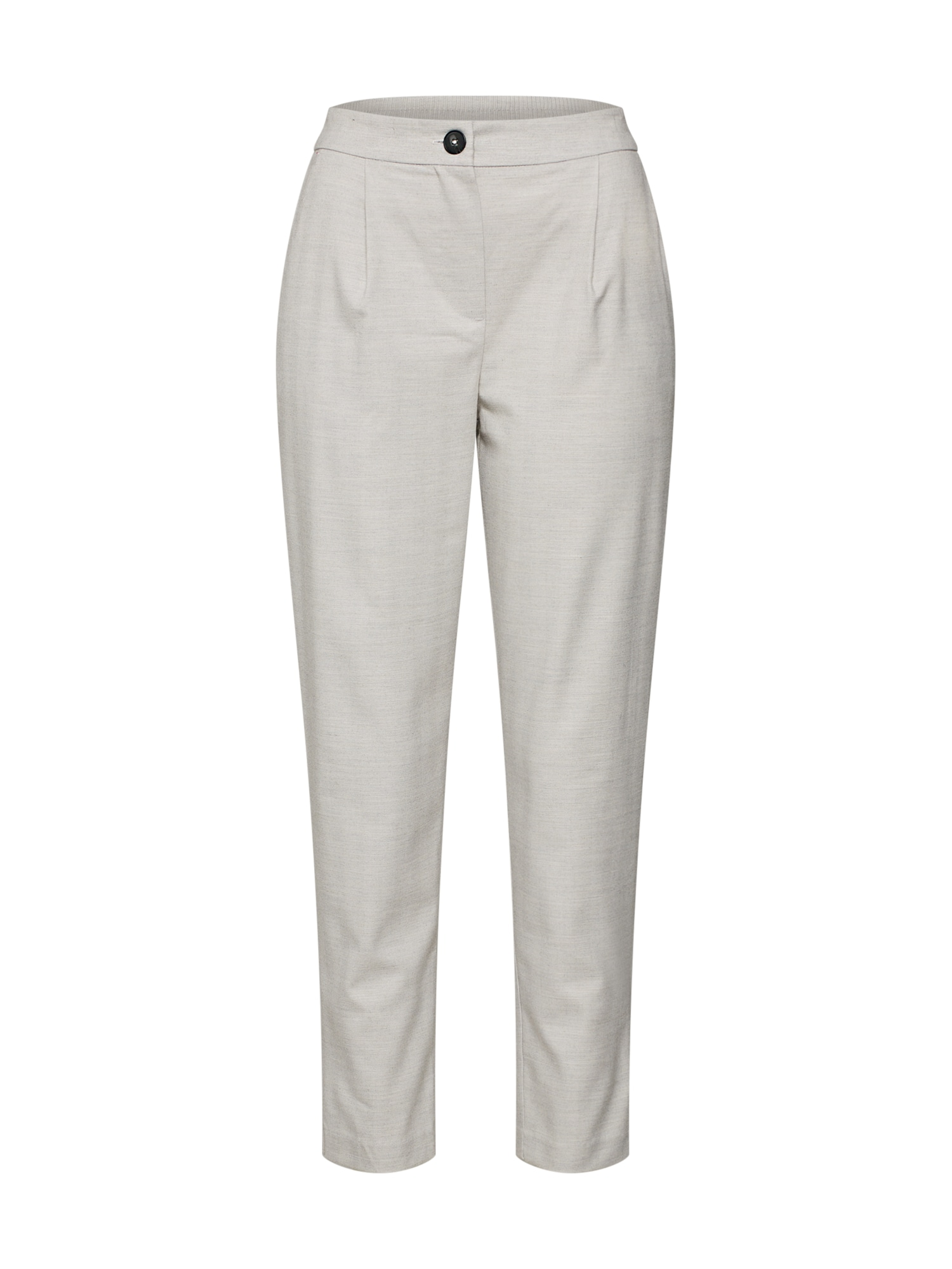 Kalhoty se sklady v pase šedá NEW LOOK