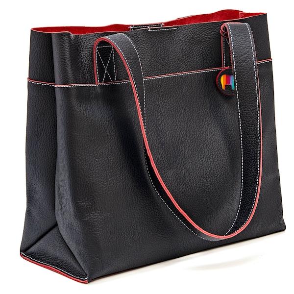 Shopper für Frauen - Mywalit Shopper 'Vancouver' rot schwarz  - Onlineshop ABOUT YOU