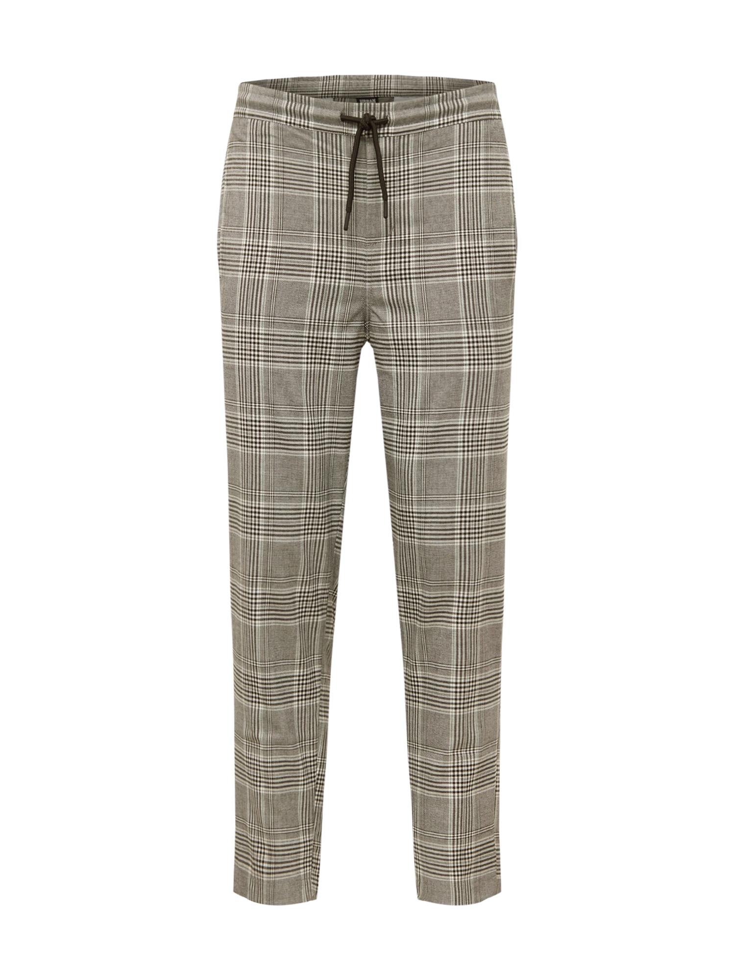 Urban Classics Nohavice  sivá / čierna / biela