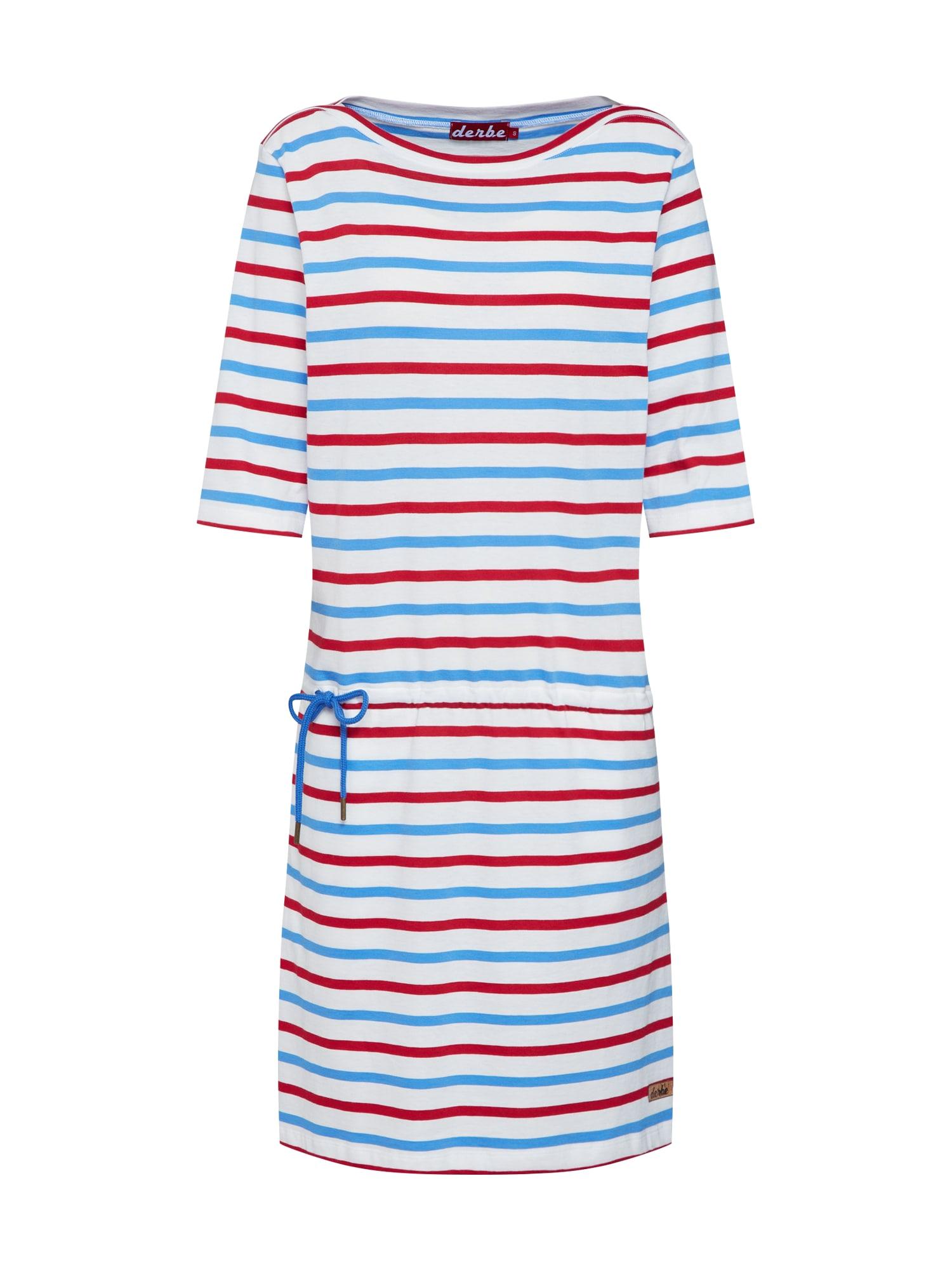 Šaty Holyharbor modrá červená bílá Derbe