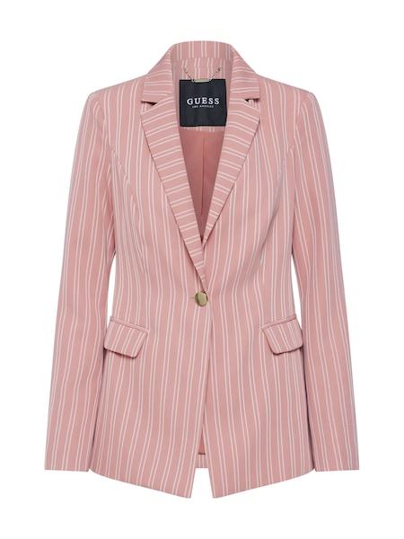 Jacken für Frauen - GUESS Blazer 'TRISHA' rosa weiß  - Onlineshop ABOUT YOU