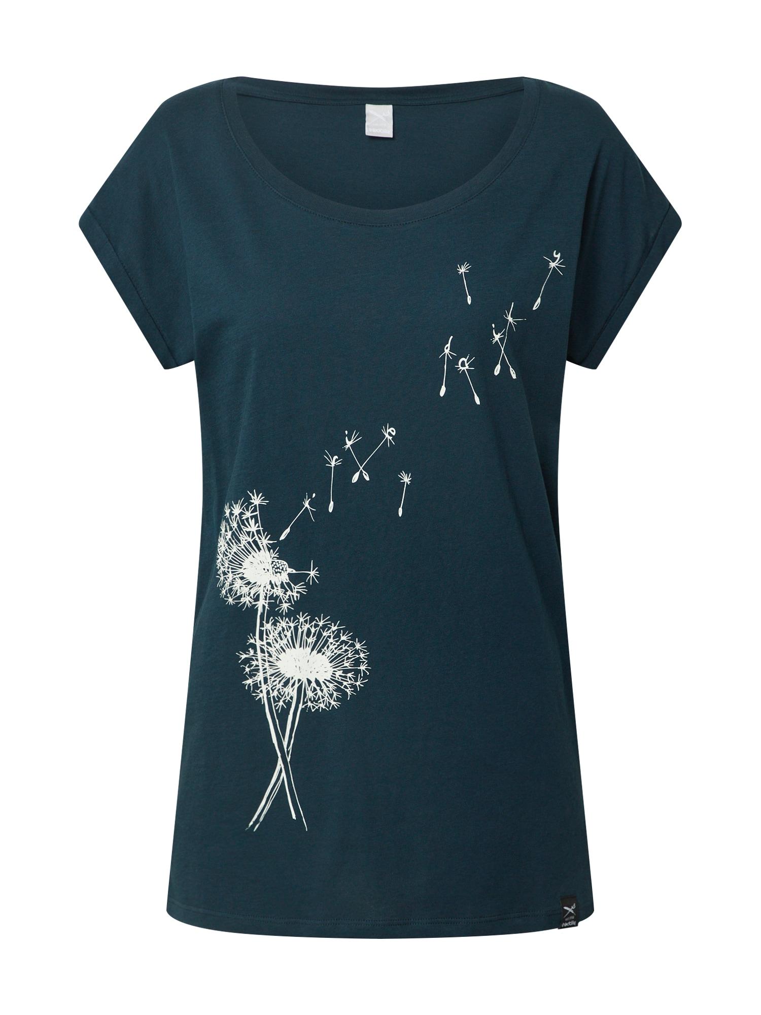 Iriedaily Tričko 'Pusteblume'  námornícka modrá / biela