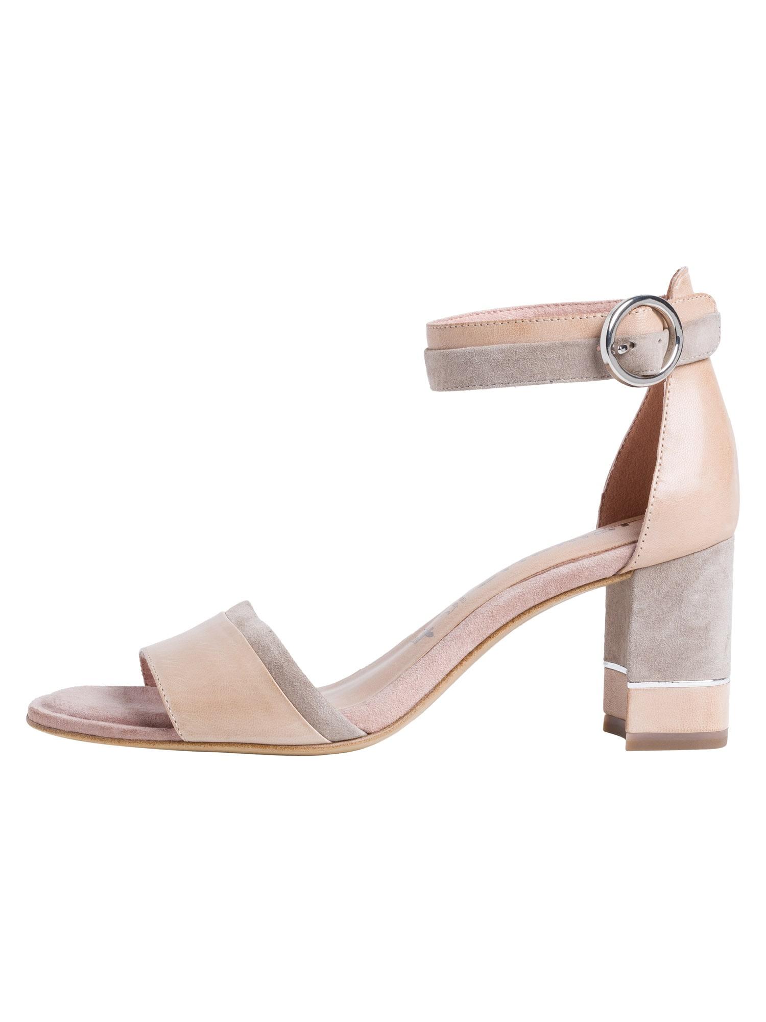 TAMARIS Sandalai ryškiai rožinė spalva / smėlio