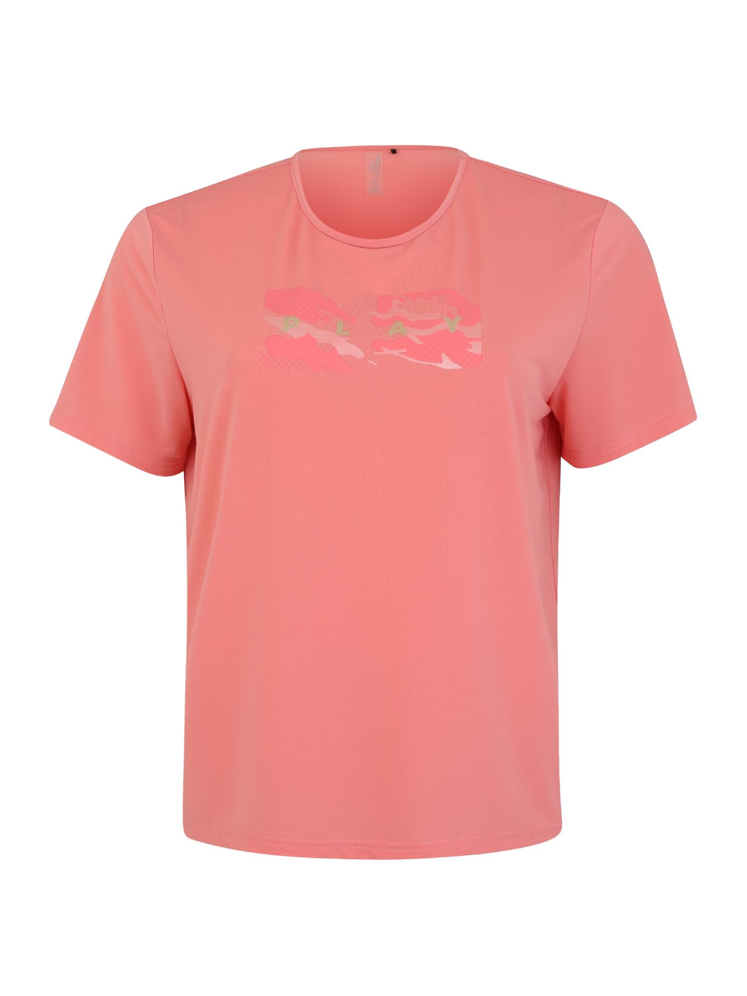 Only Play Curvy Sportiniai marškinėliai 'ONPJOY LIFE LOOSE SS TRAINING-CURVY' rožių spalva