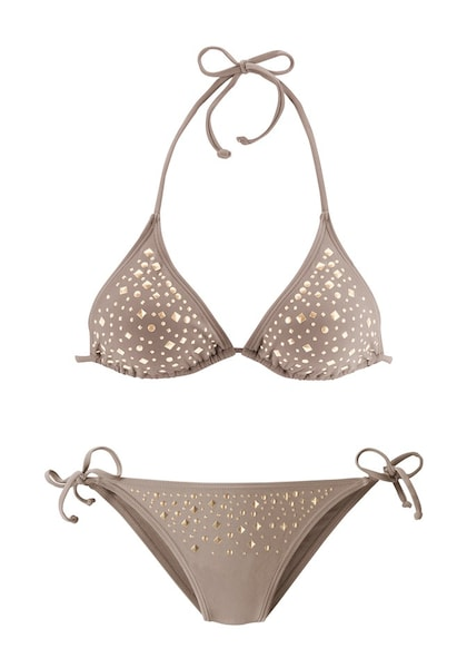 Bademode für Frauen - JETTE Triangel Bikini dunkelbeige  - Onlineshop ABOUT YOU
