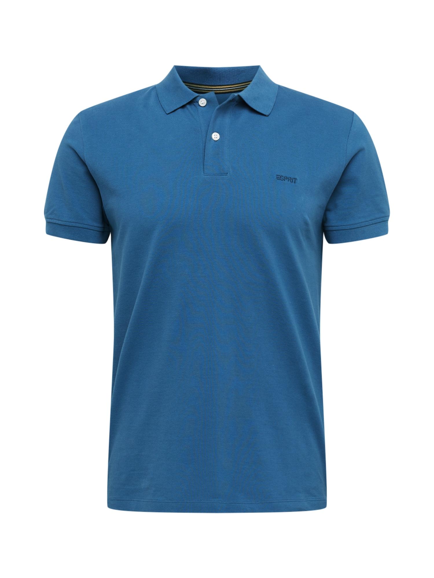 ESPRIT Marškinėliai mėlyna dūmų spalva
