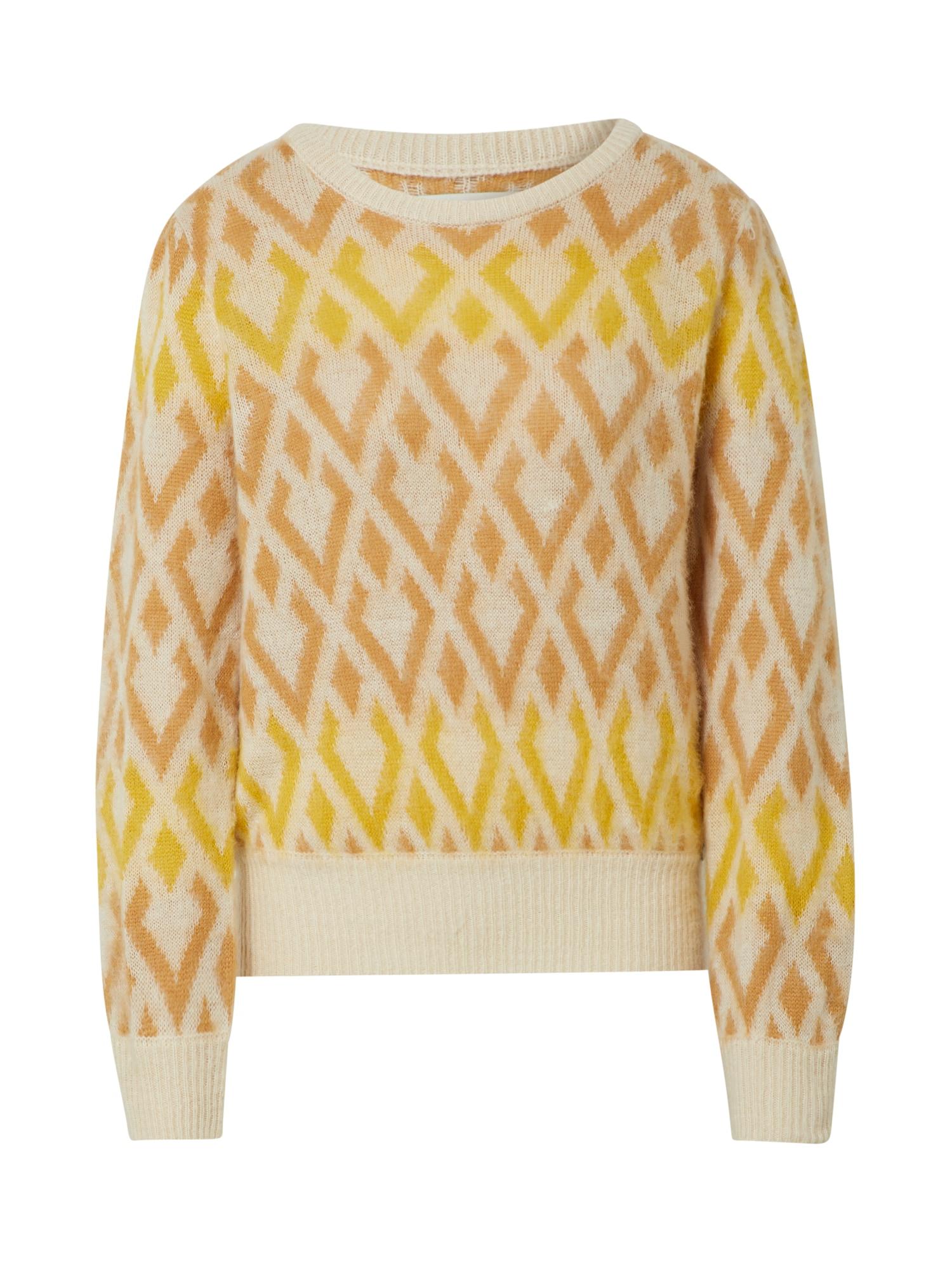 Blend She Megztinis geltona / kremo