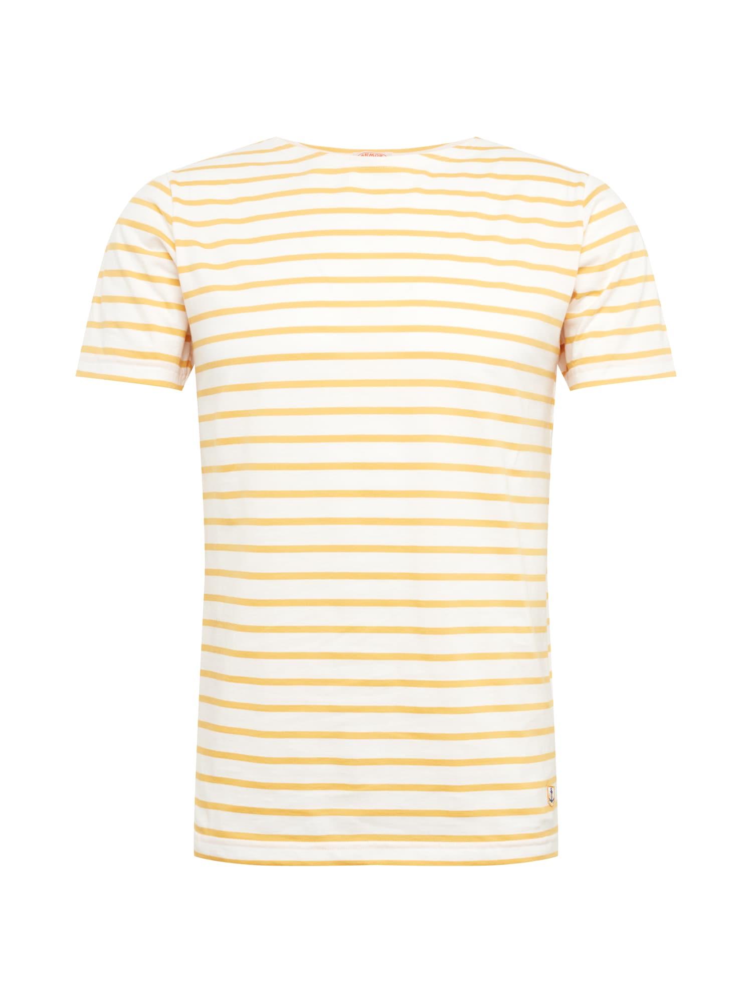 Tričko Marinière žlutá přírodní bílá Armor Lux