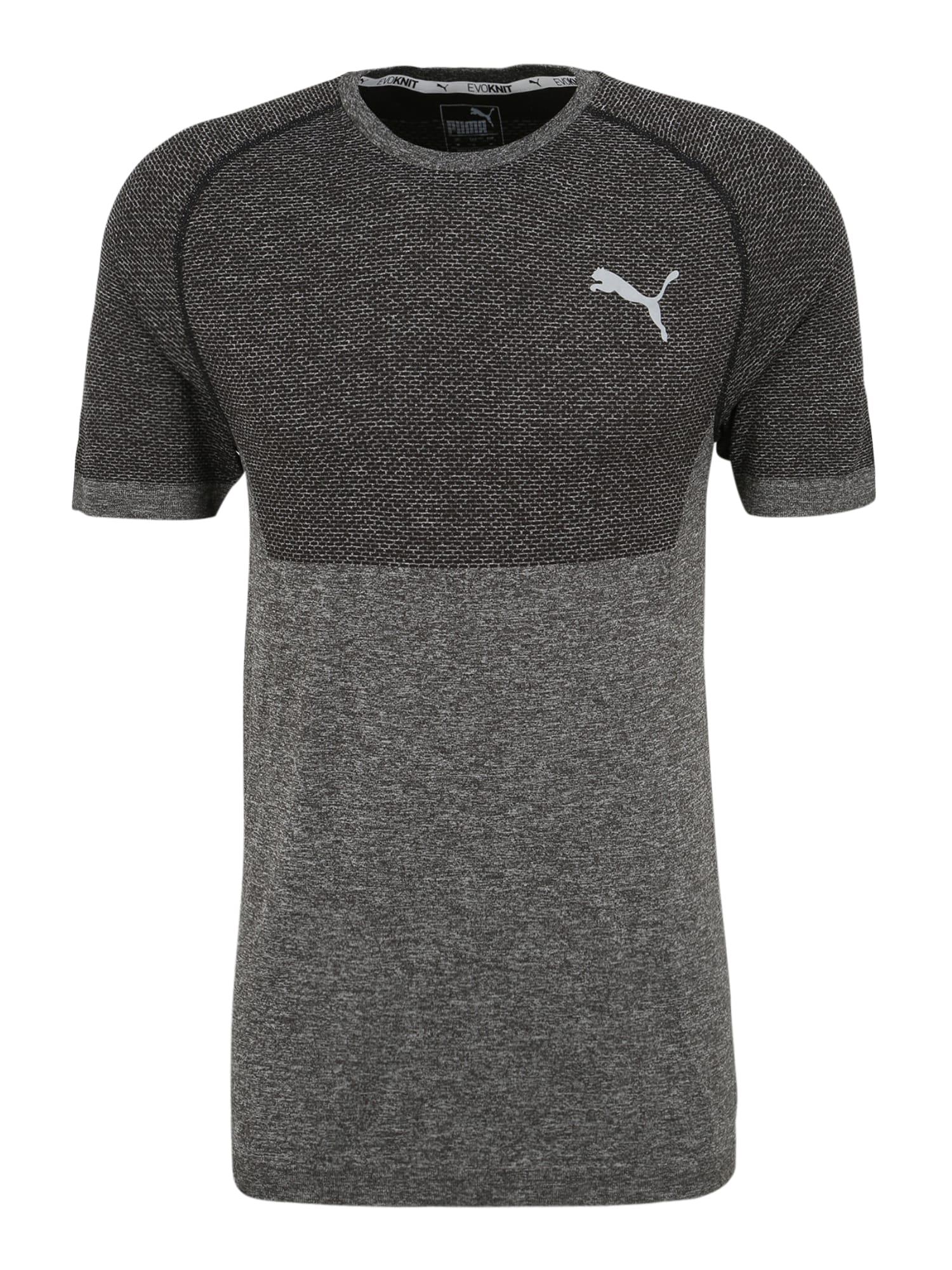 PUMA Funkční tričko 'evoKNIT'  antracitová