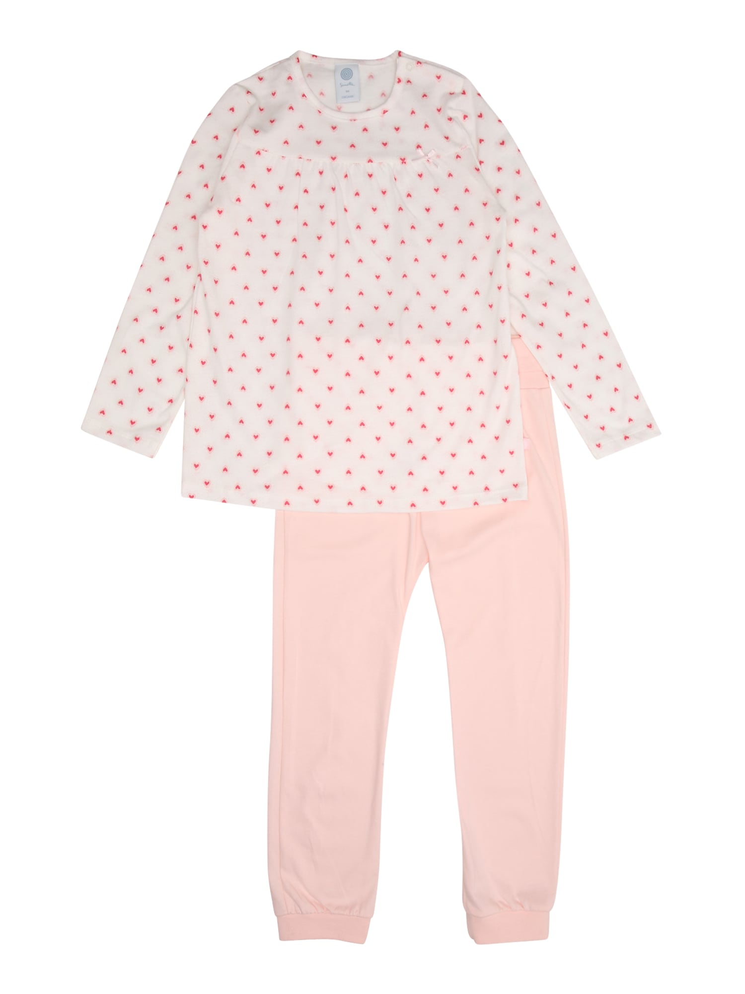 Pyžamo růžová bílá SANETTA