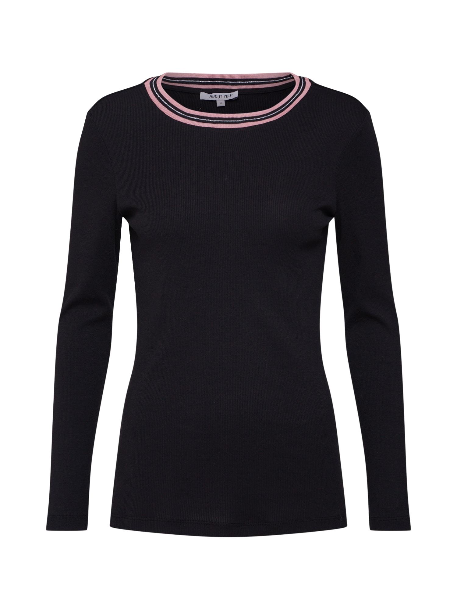Tričko Hanna růžová černá ABOUT YOU