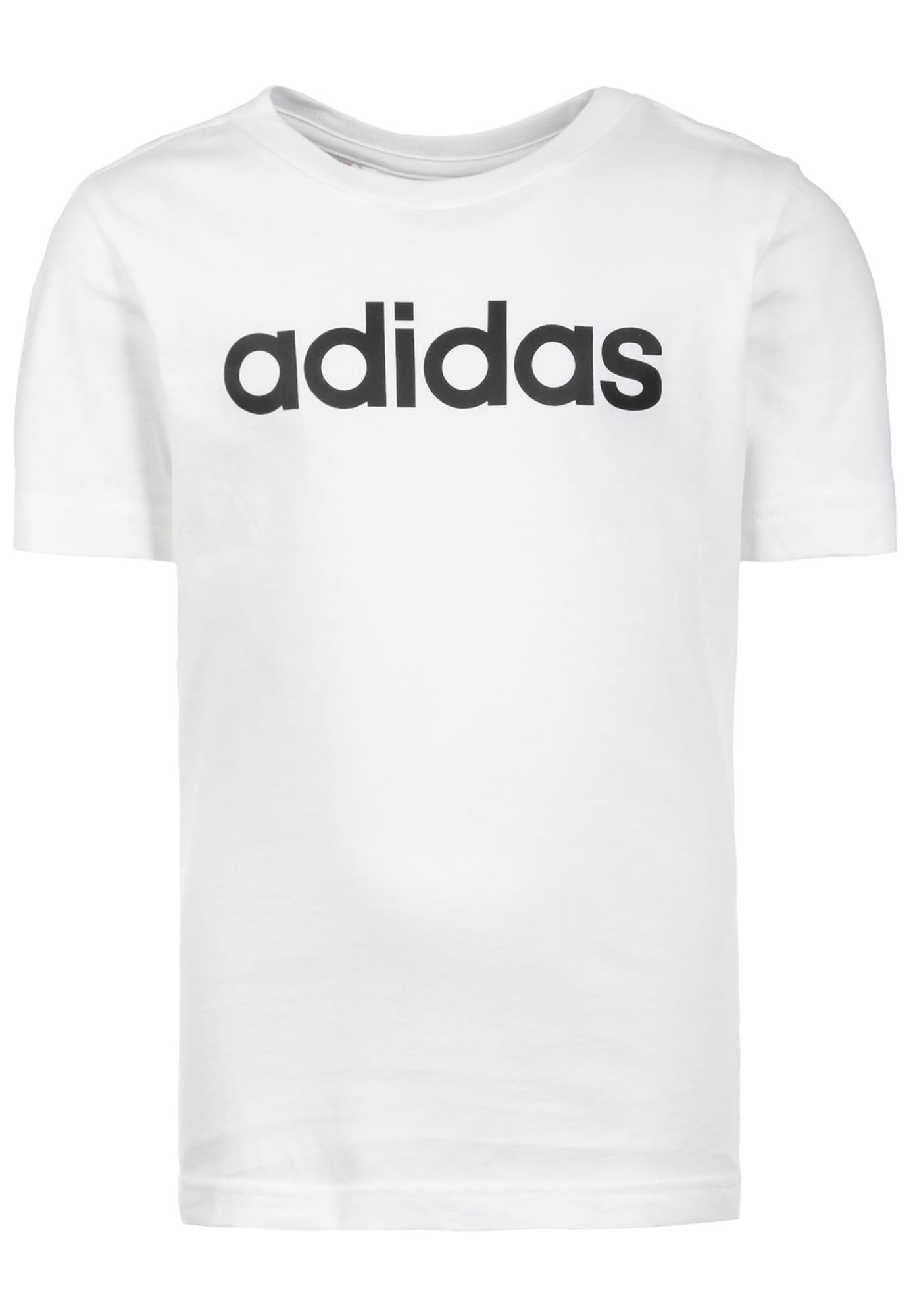 ADIDAS PERFORMANCE Sportiniai marškinėliai 'Essentials Linear' balta / juoda