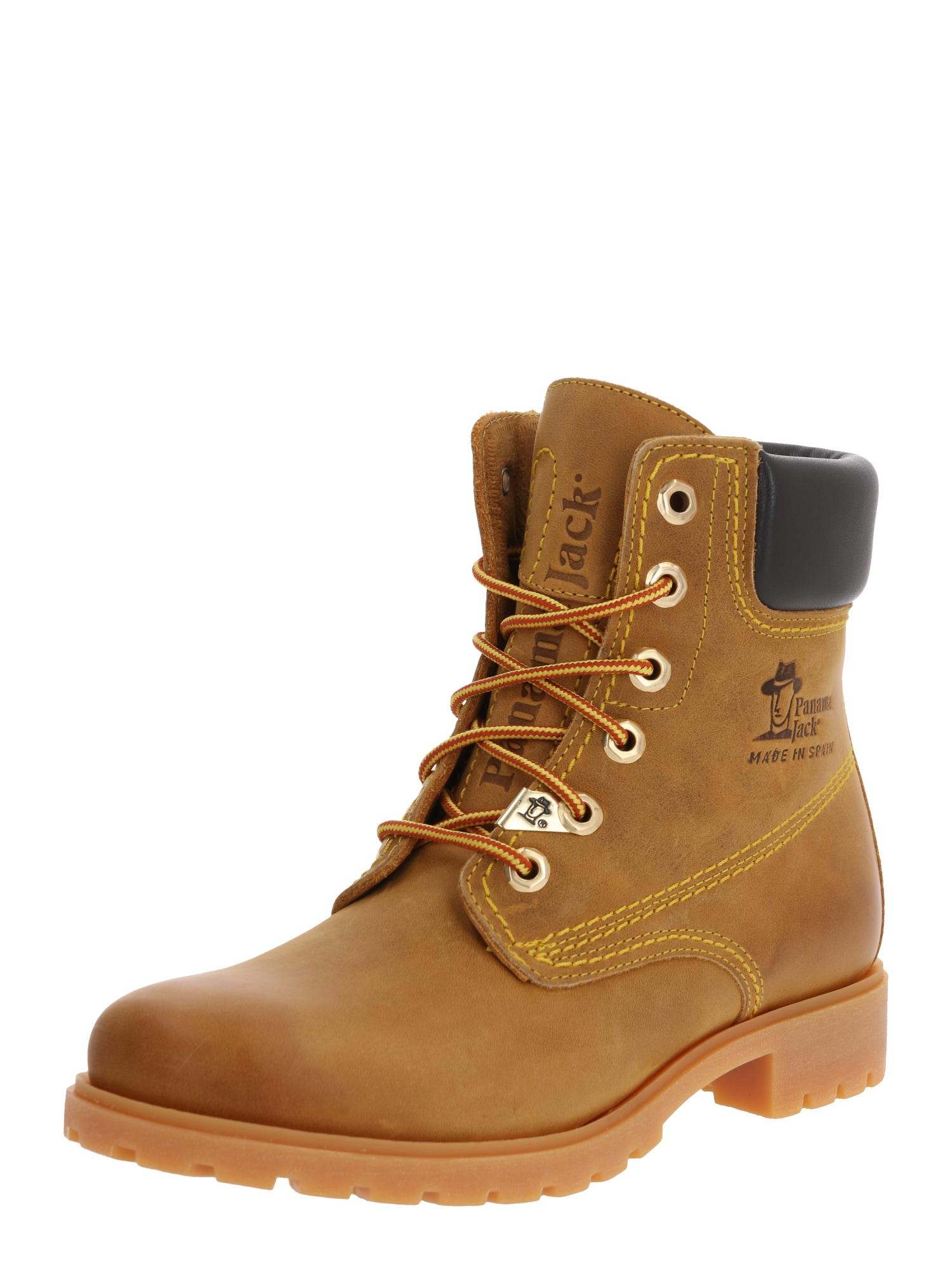 PANAMA JACK Suvarstomieji kulkšnis dengiantys batai garstyčių spalva
