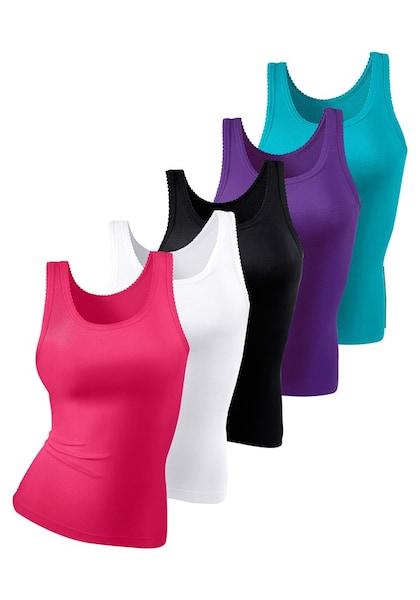 Bademode - Unterhemd › PETITE FLEUR › weiß türkis lila pink schwarz  - Onlineshop ABOUT YOU