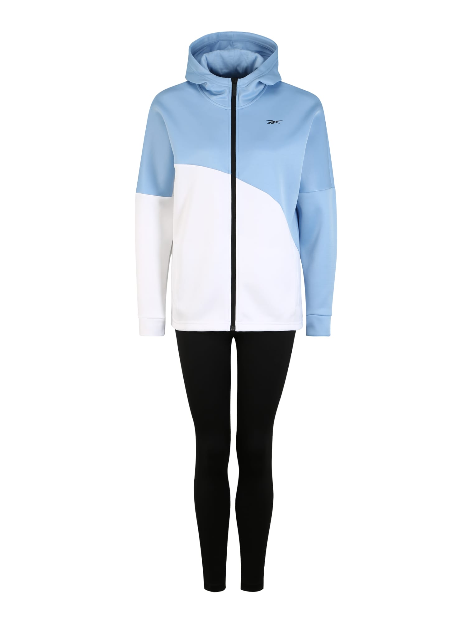 REEBOK Treniruočių kostiumas šviesiai mėlyna / balta