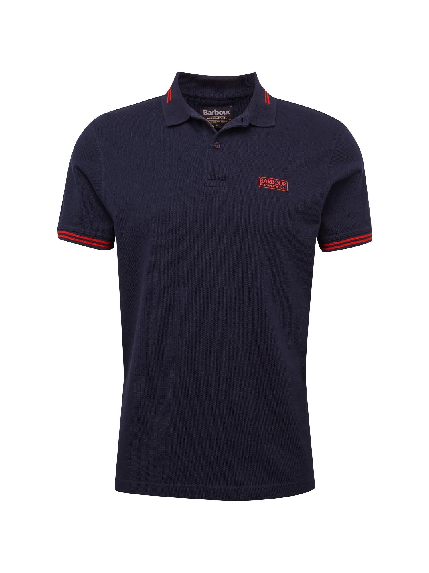 Tričko námořnická modř ohnivá červená Barbour International