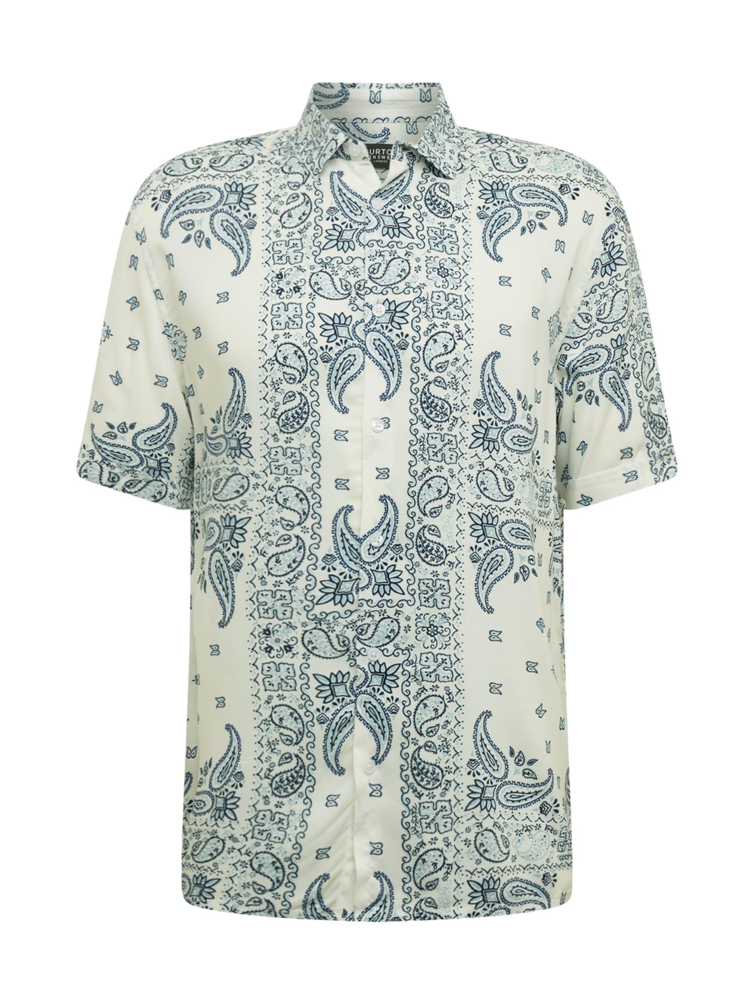 BURTON MENSWEAR LONDON Košeľa  zmiešané farby / biela