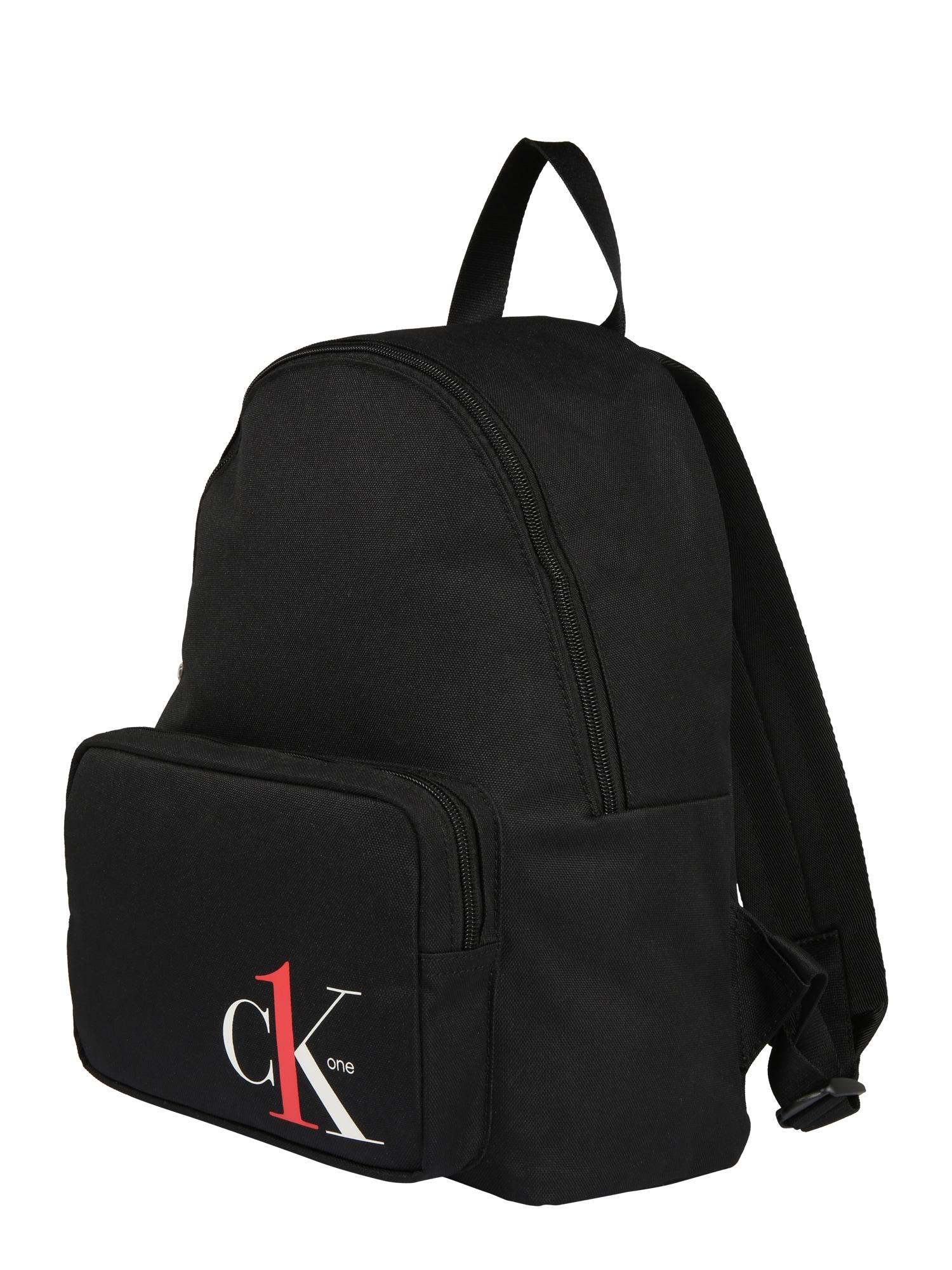 Calvin Klein Jeans Kuprinė 'CK1 CAMPUS BP35' juoda / balta