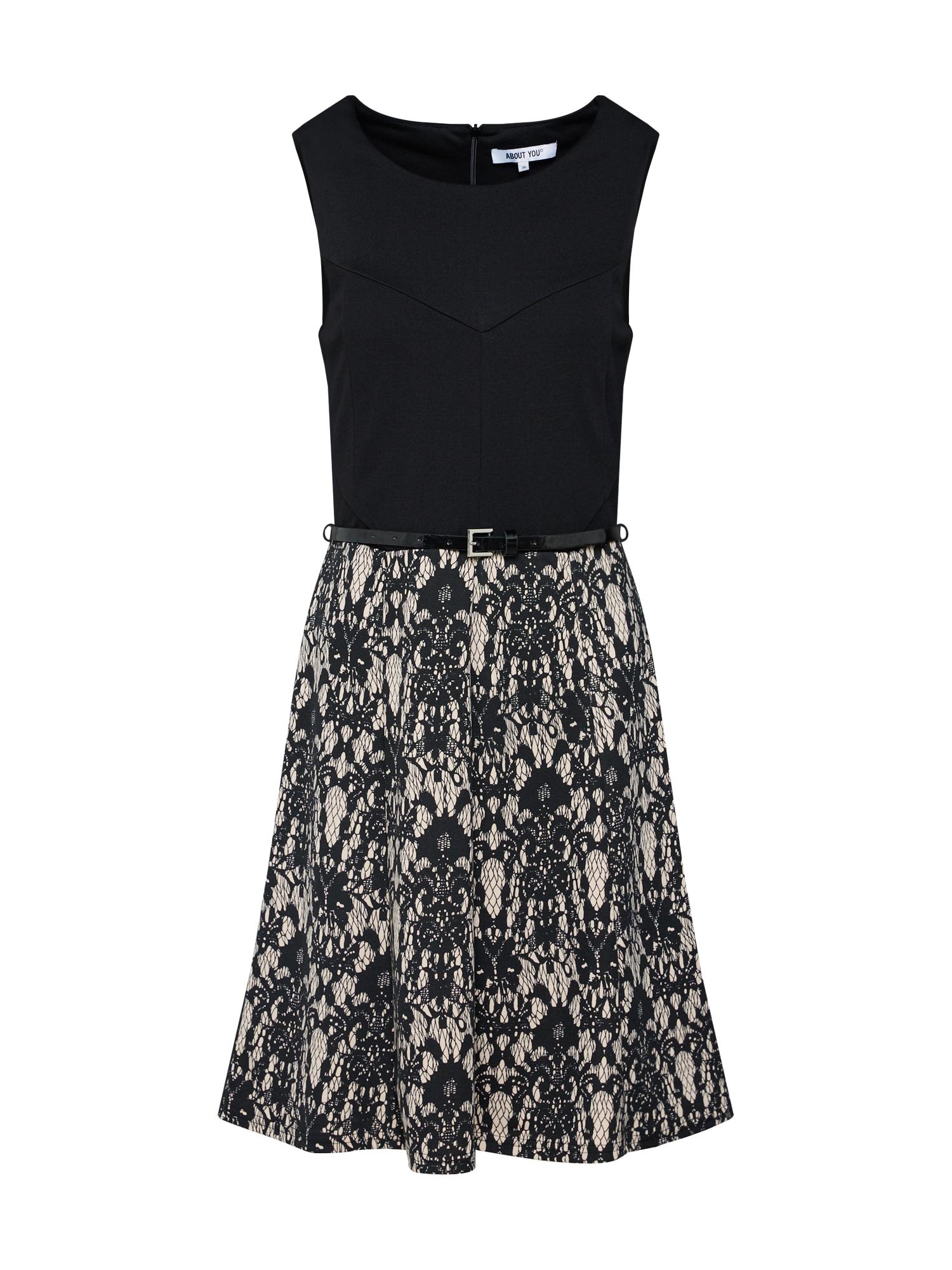ABOUT YOU Koktejlové šaty 'Sophia'  tělová / černá