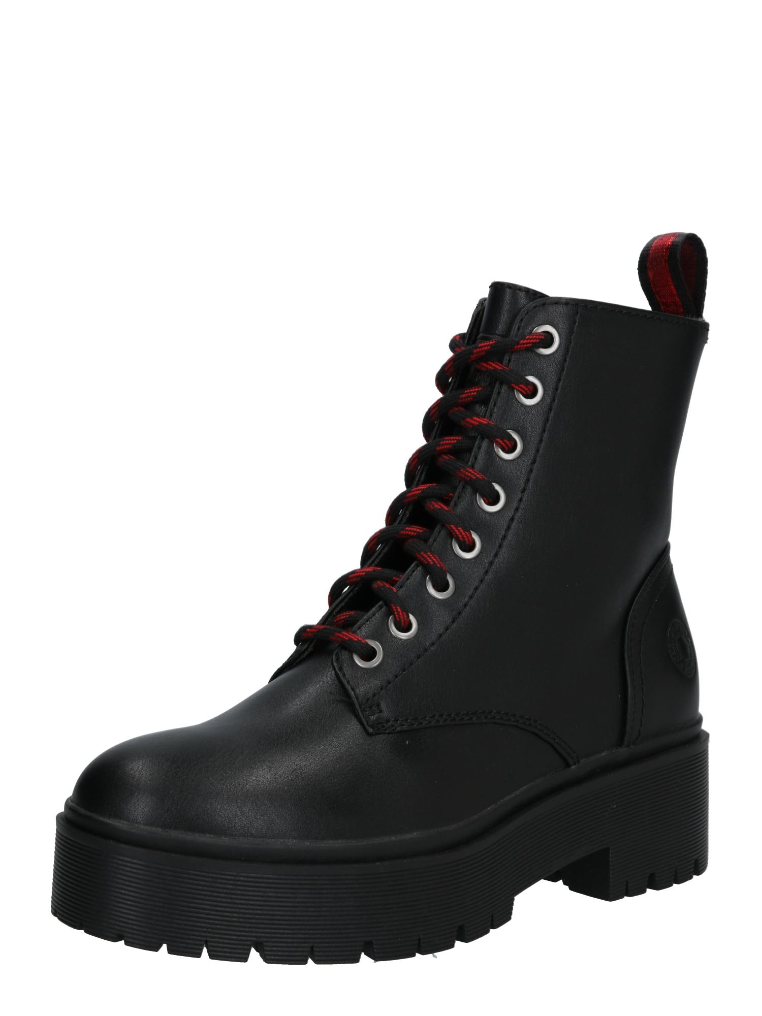 BULLBOXER šněrovací boty černé