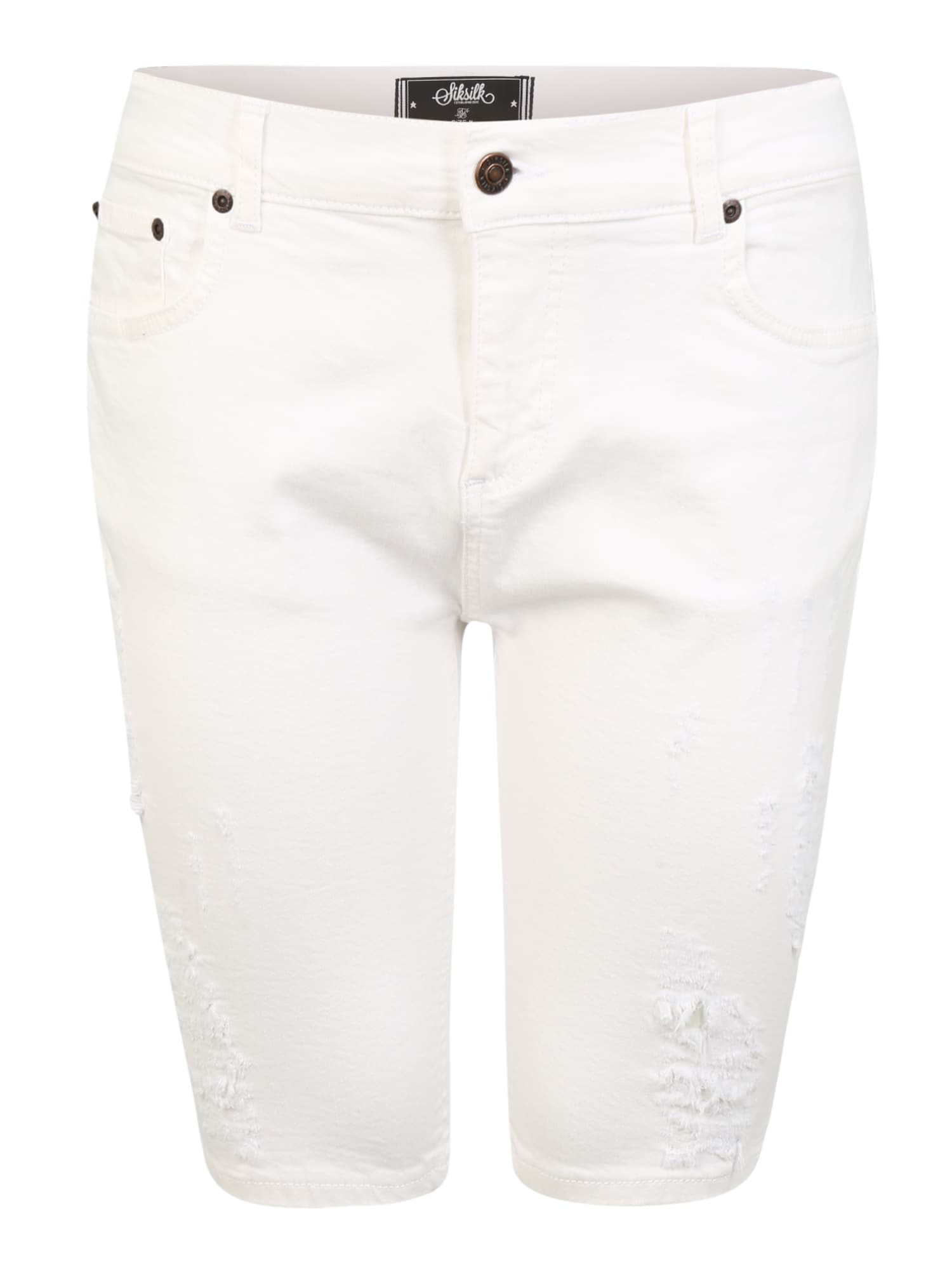 SikSilk Džinsai balto džinso spalva