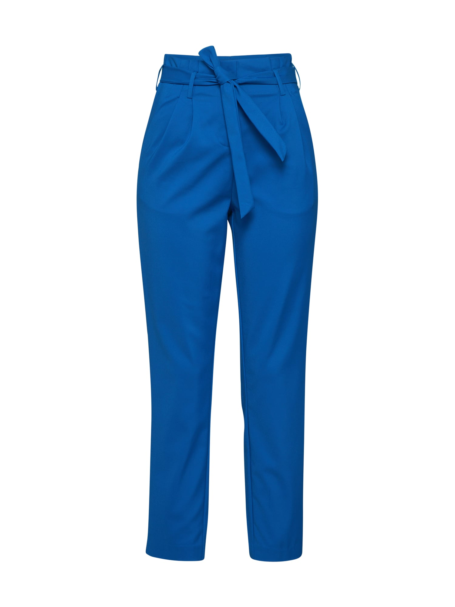 VILA Klostuotos kelnės 'VISOFINA HW 7/8 PANT' tamsiai mėlyna