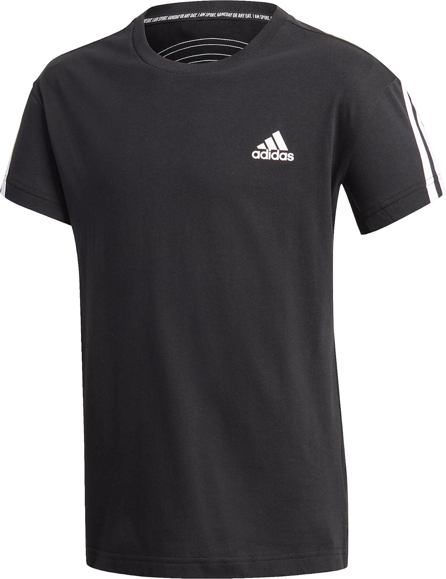 ADIDAS PERFORMANCE Marškinėliai juoda / balta