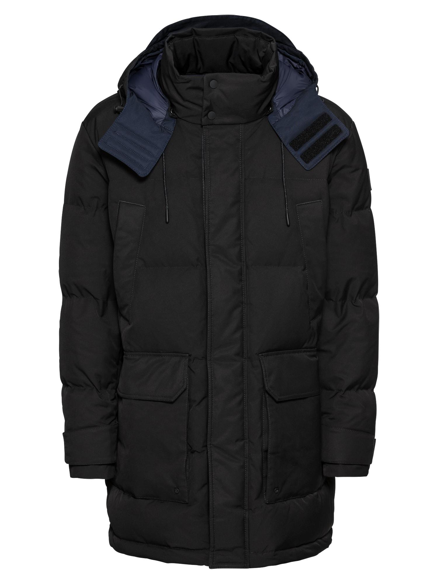 BOSS Žieminė striukė 'Onek 10199765 01' juoda