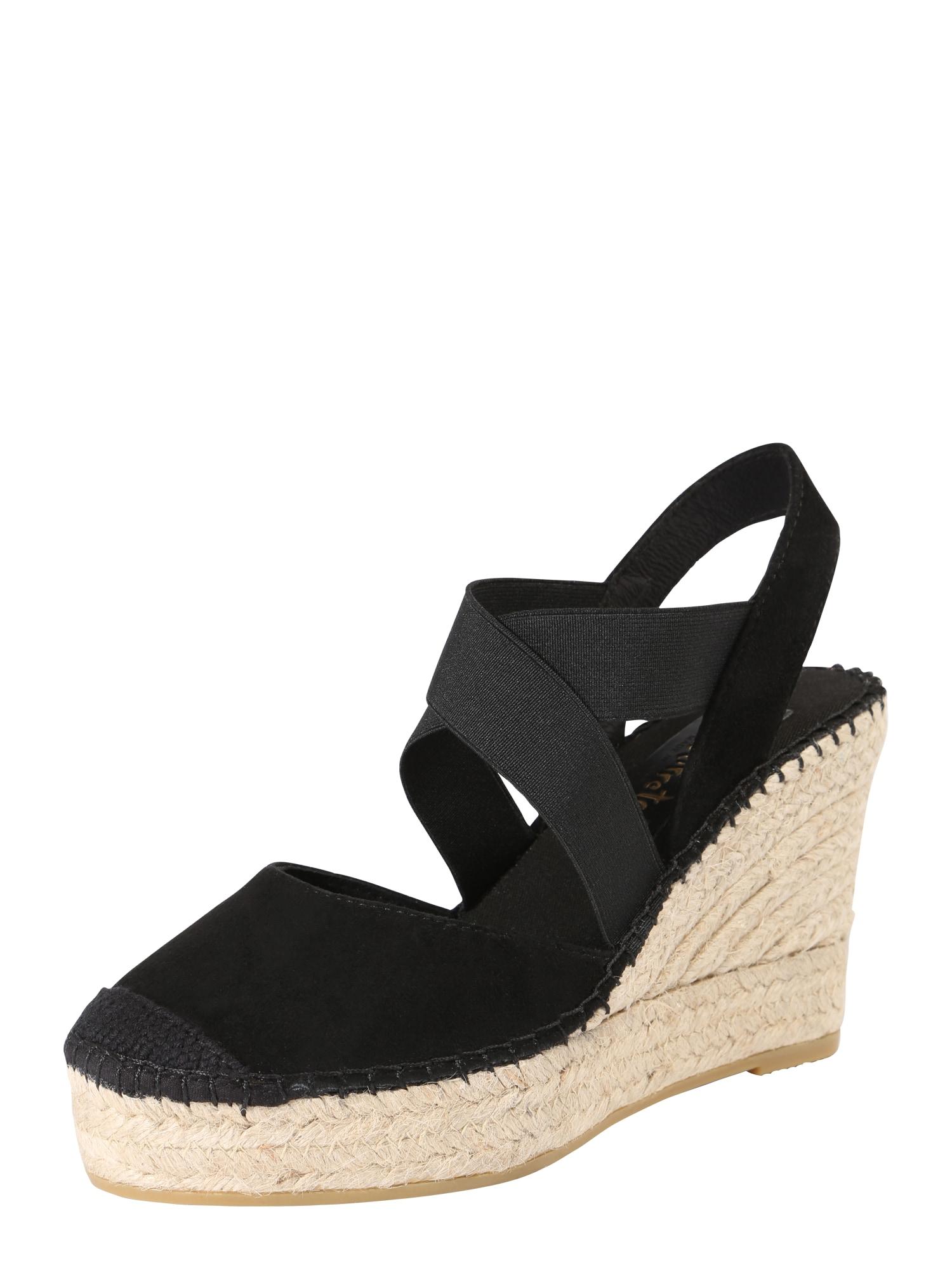 Páskové sandály ANTI černá Vidorreta