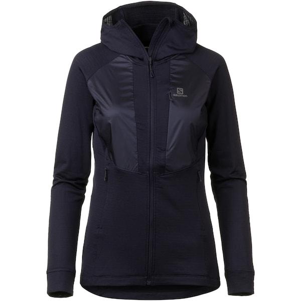 Jacken für Frauen - SALOMON Fleecejacke 'Grid' nachtblau  - Onlineshop ABOUT YOU