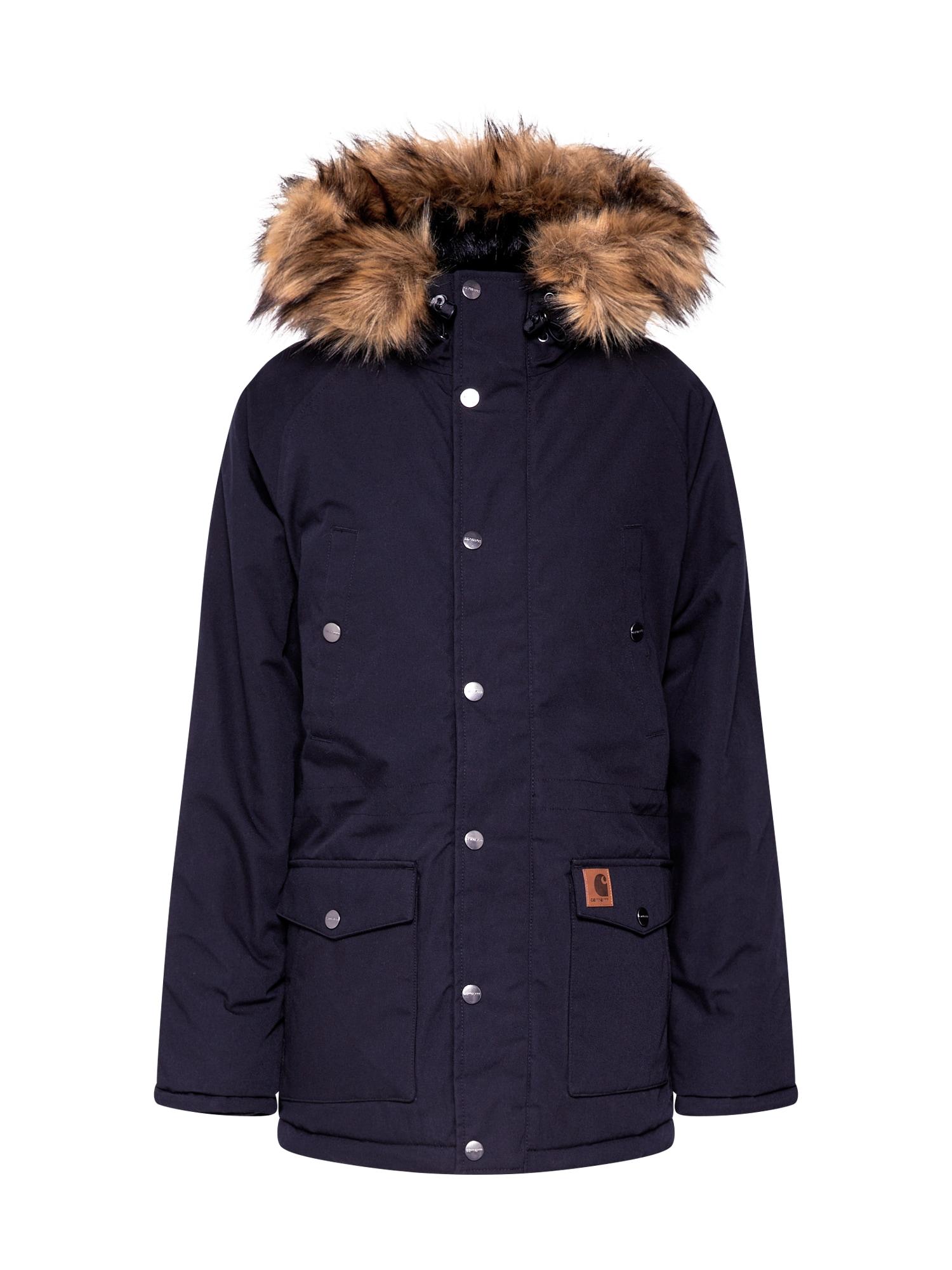 Carhartt WIP Ilga rudeninė-žieminė striukė 'Trapper' juoda