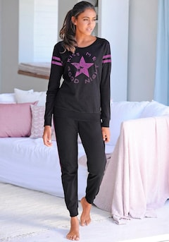 Langer Pyjama im Sports-Look