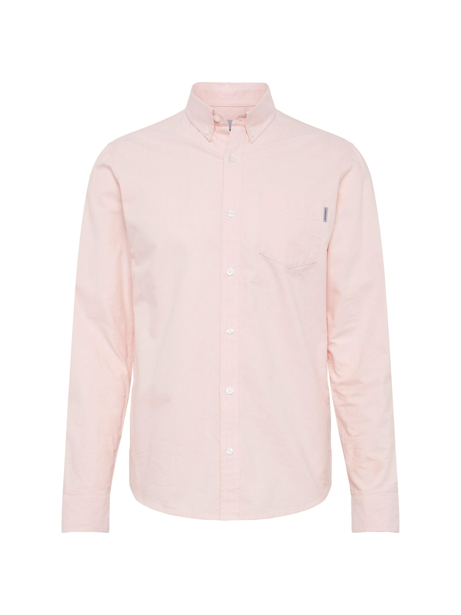 Košile LS Button Down Pocket růžová Carhartt WIP