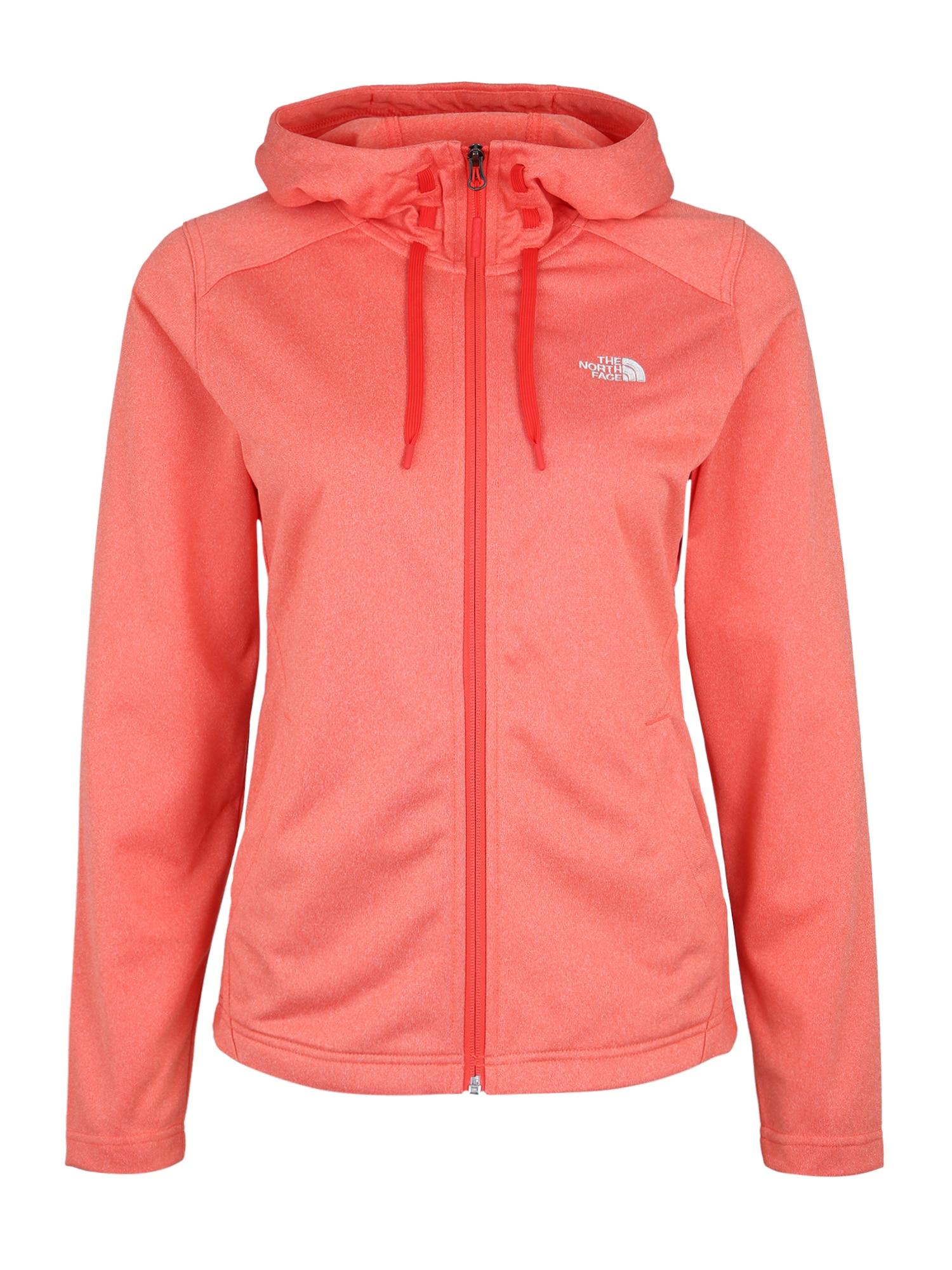 THE NORTH FACE Jachetă  fleece funcțională 'TECH MEZZALUNA HD'  portocaliu / roșu orange