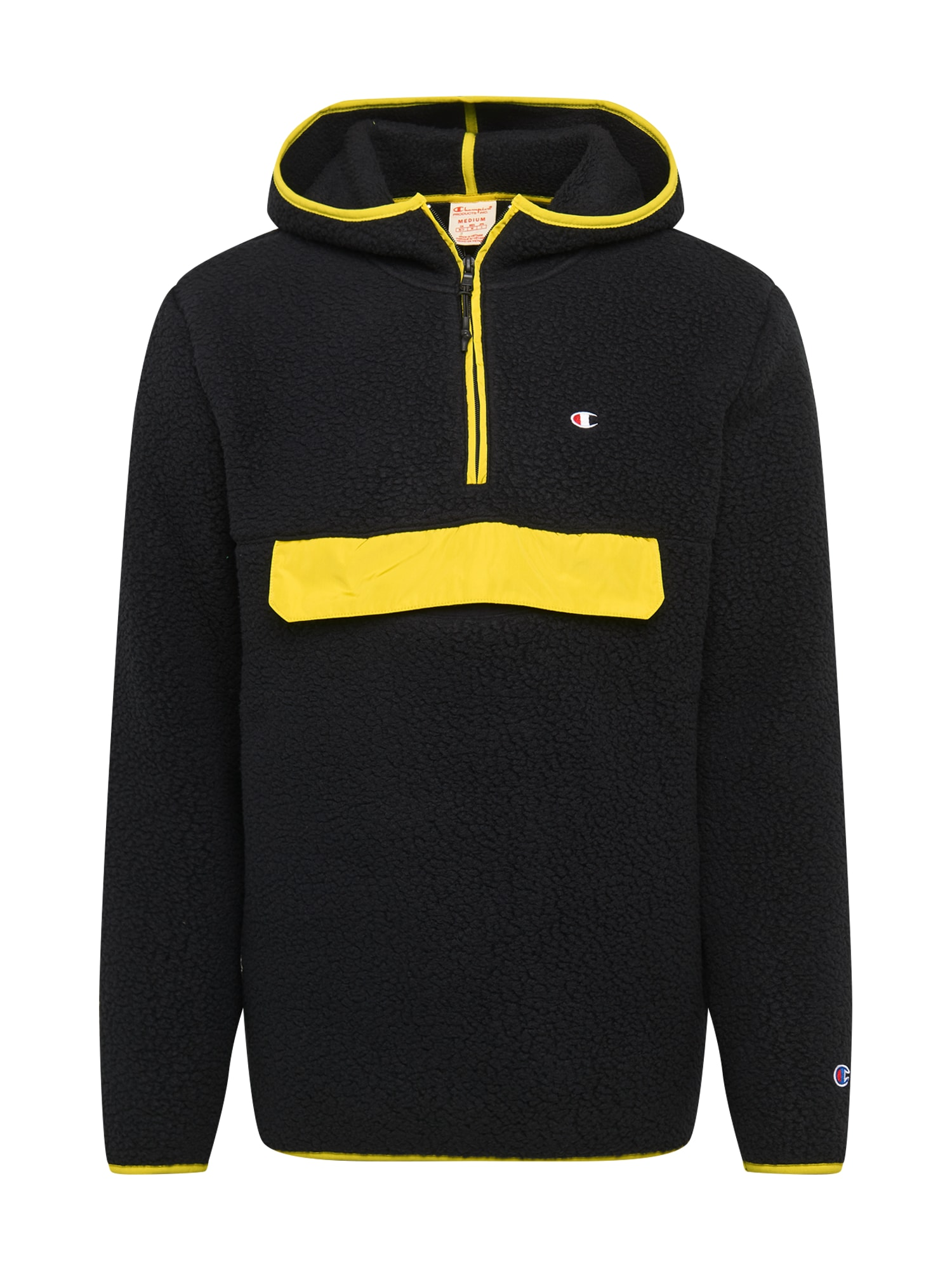 Champion Reverse Weave Megztinis juoda / geltona